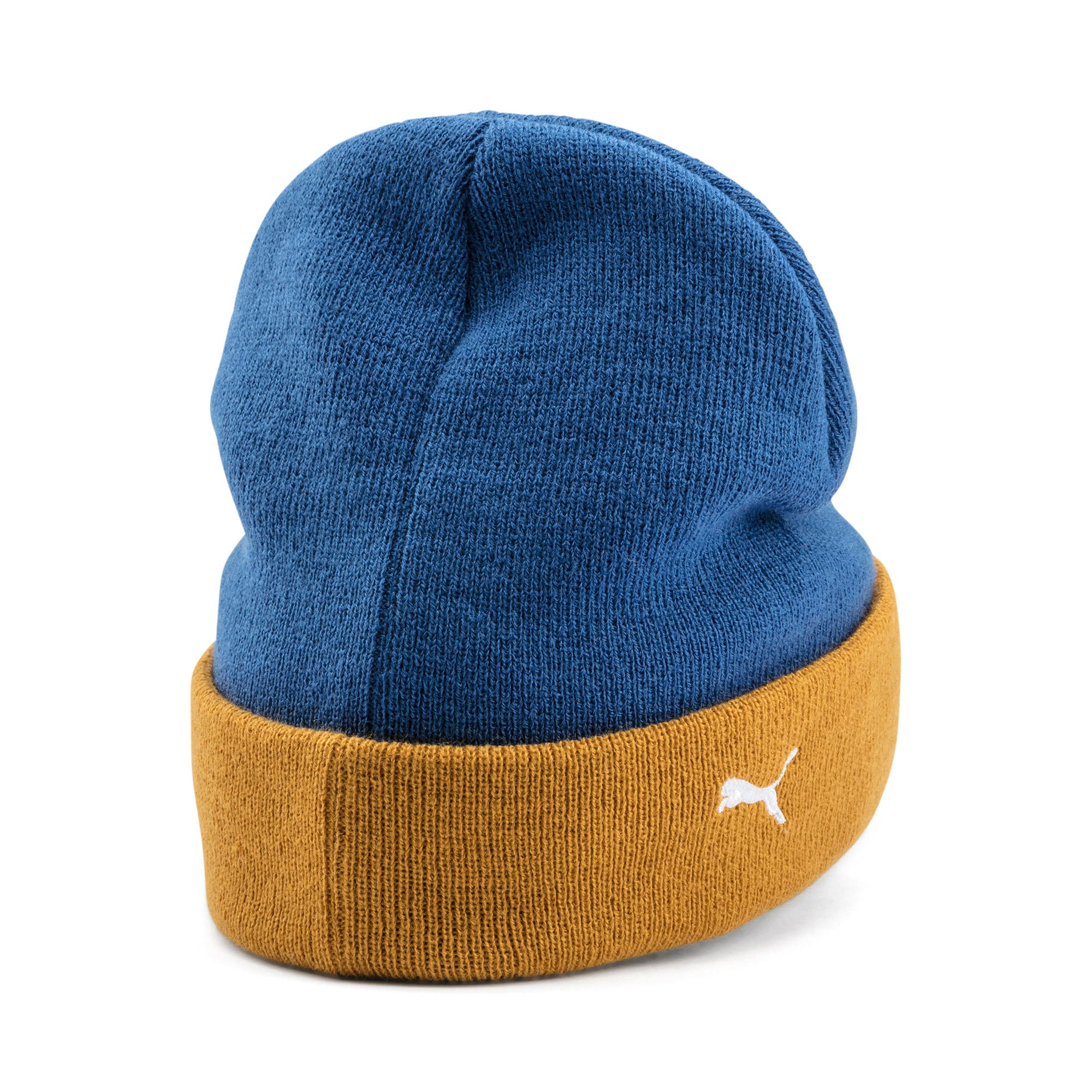 Thumbnail 4 of PUMA x TYAKASHA Beanie, Galaxy Blue-Buckthorn Brown, medium
