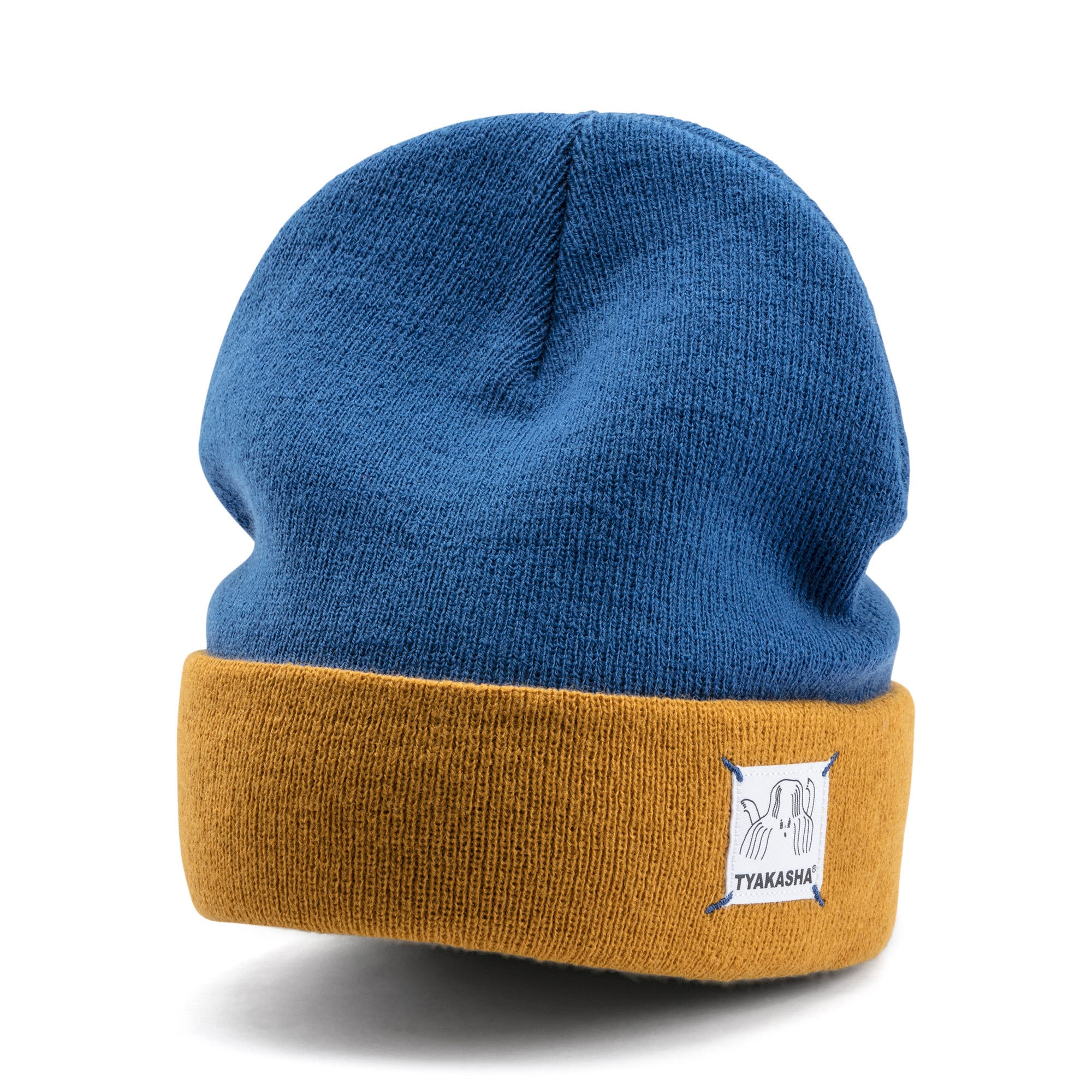Thumbnail 1 of PUMA x TYAKASHA Beanie, Galaxy Blue-Buckthorn Brown, medium