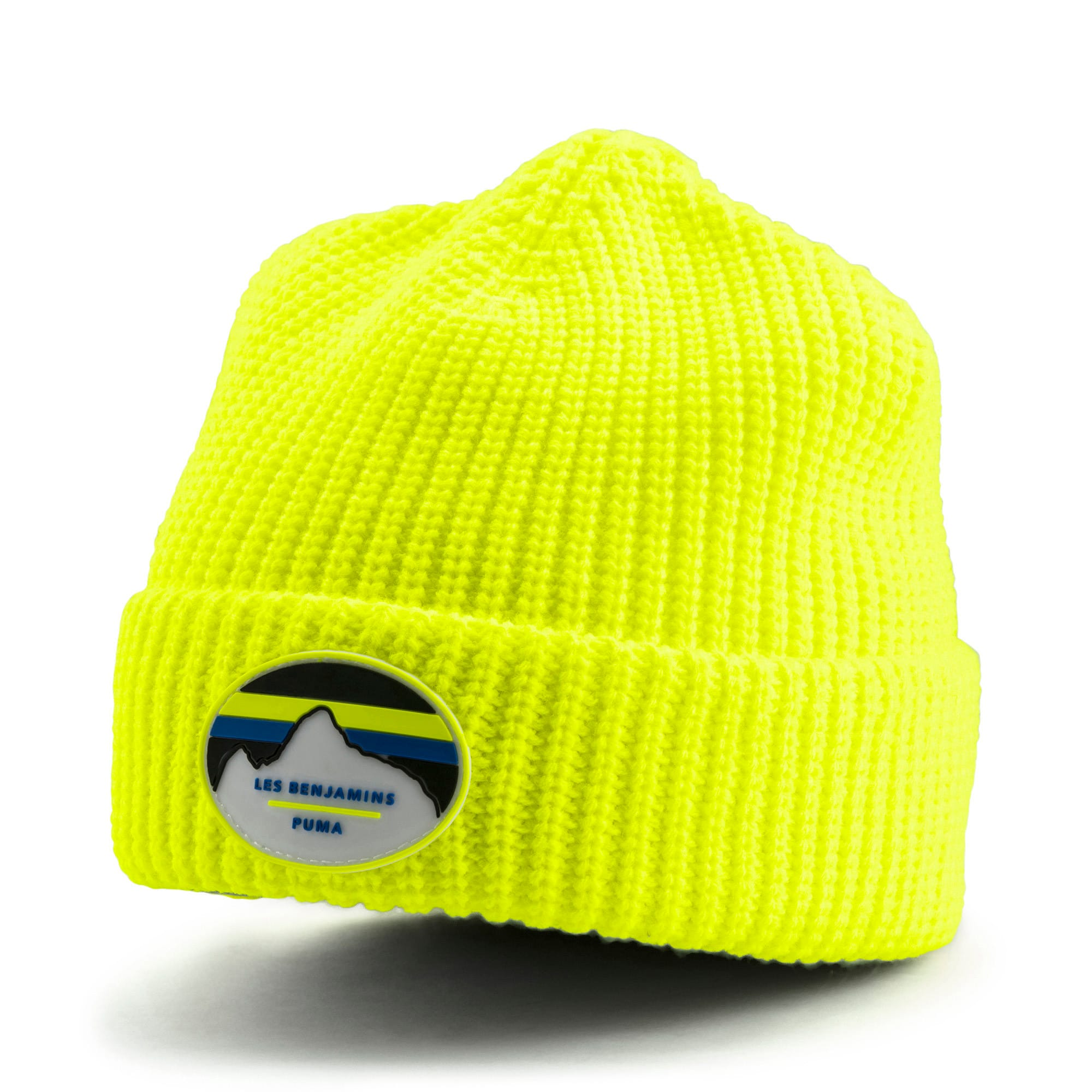 PUMA x LES BENJAMINS Beanie, Safety Yellow, large