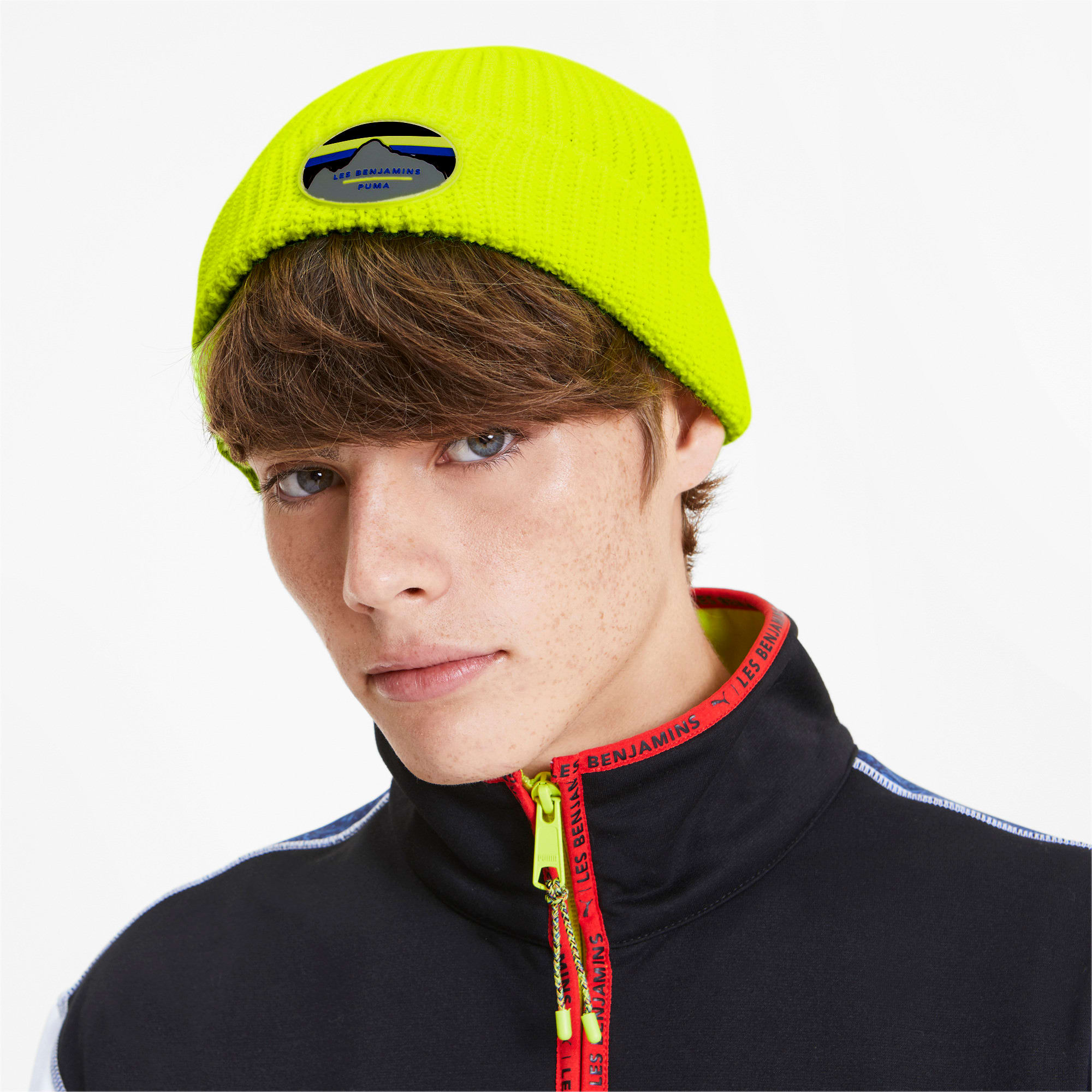 Thumbnail 2 of PUMA x LES BENJAMINS Beanie, Safety Yellow, medium
