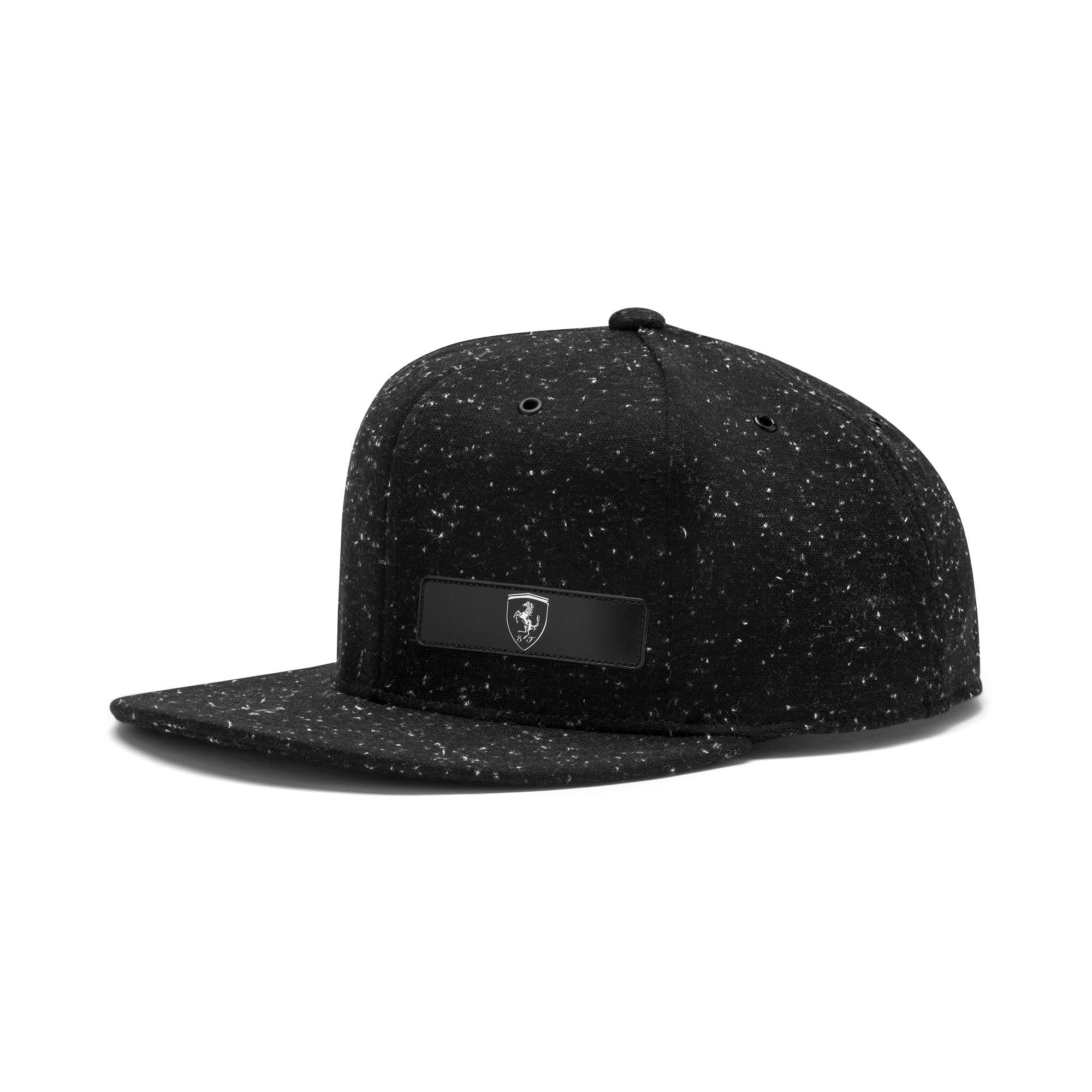 Thumbnail 1 of Ferrari Lifestyle Flat Brim Cap, Puma Black, medium-IND