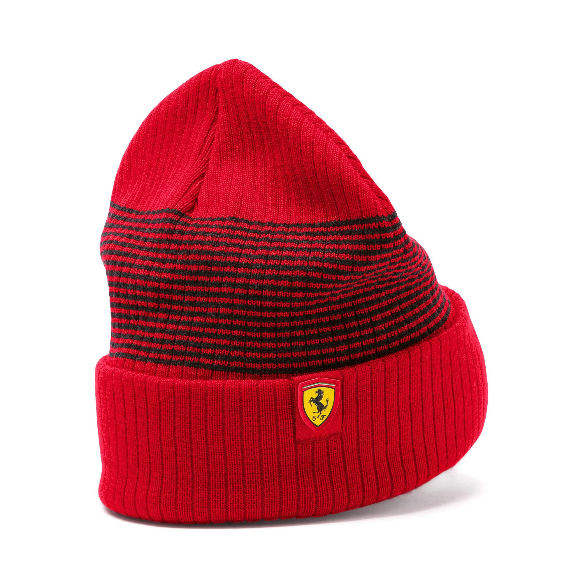 Miniatura 2 de Gorro de lana Scuderia Ferrari para fanáticos, Rosso Corsa, mediano