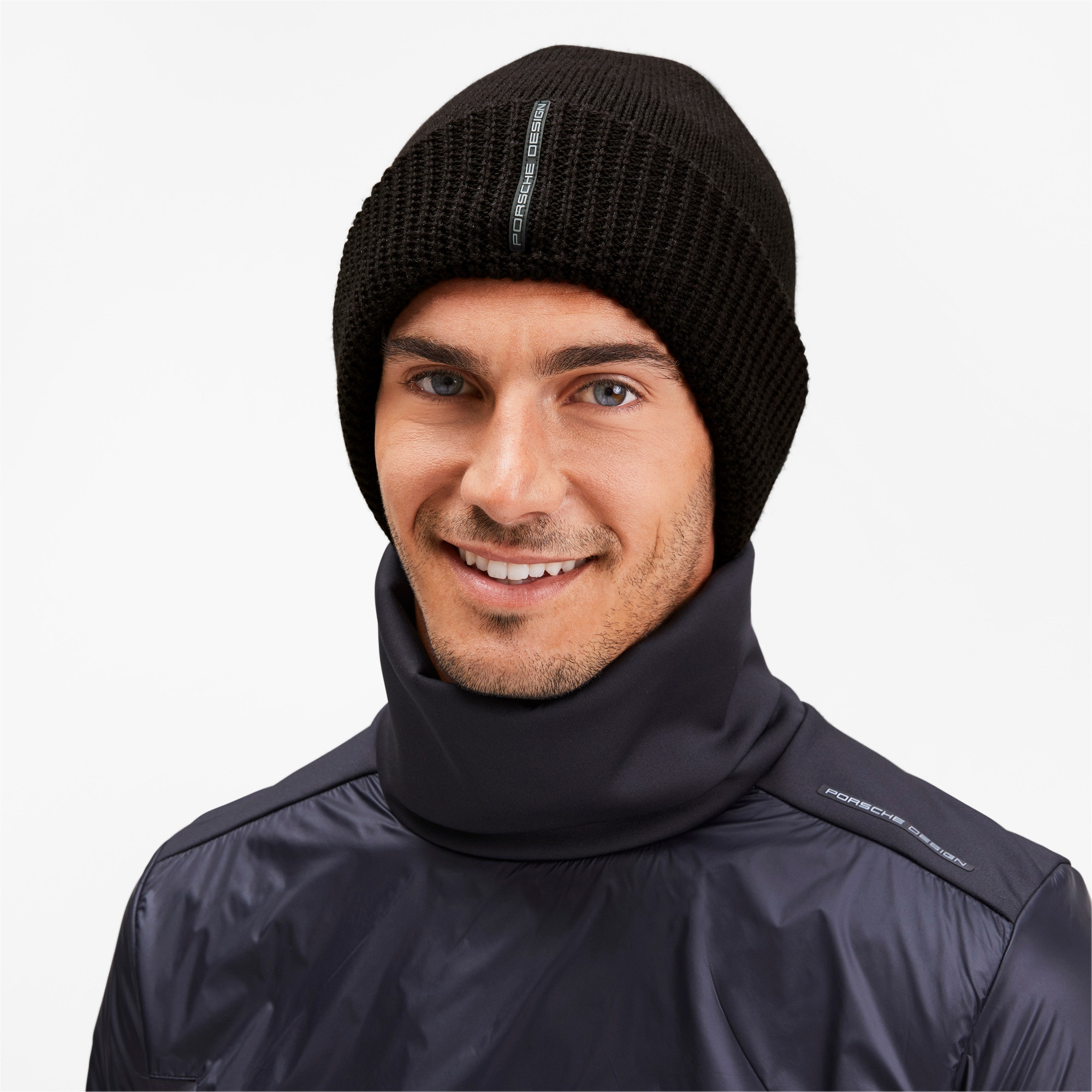 Thumbnail 2 of Porsche Design Knit Beanie, Puma Black, medium