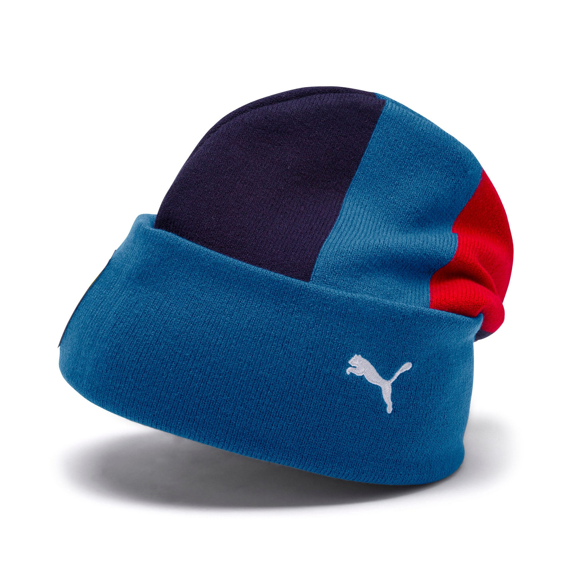 Thumbnail 1 of Ferrari Fanwear Beanie, Galaxy Blue-Rosso Corsa, medium