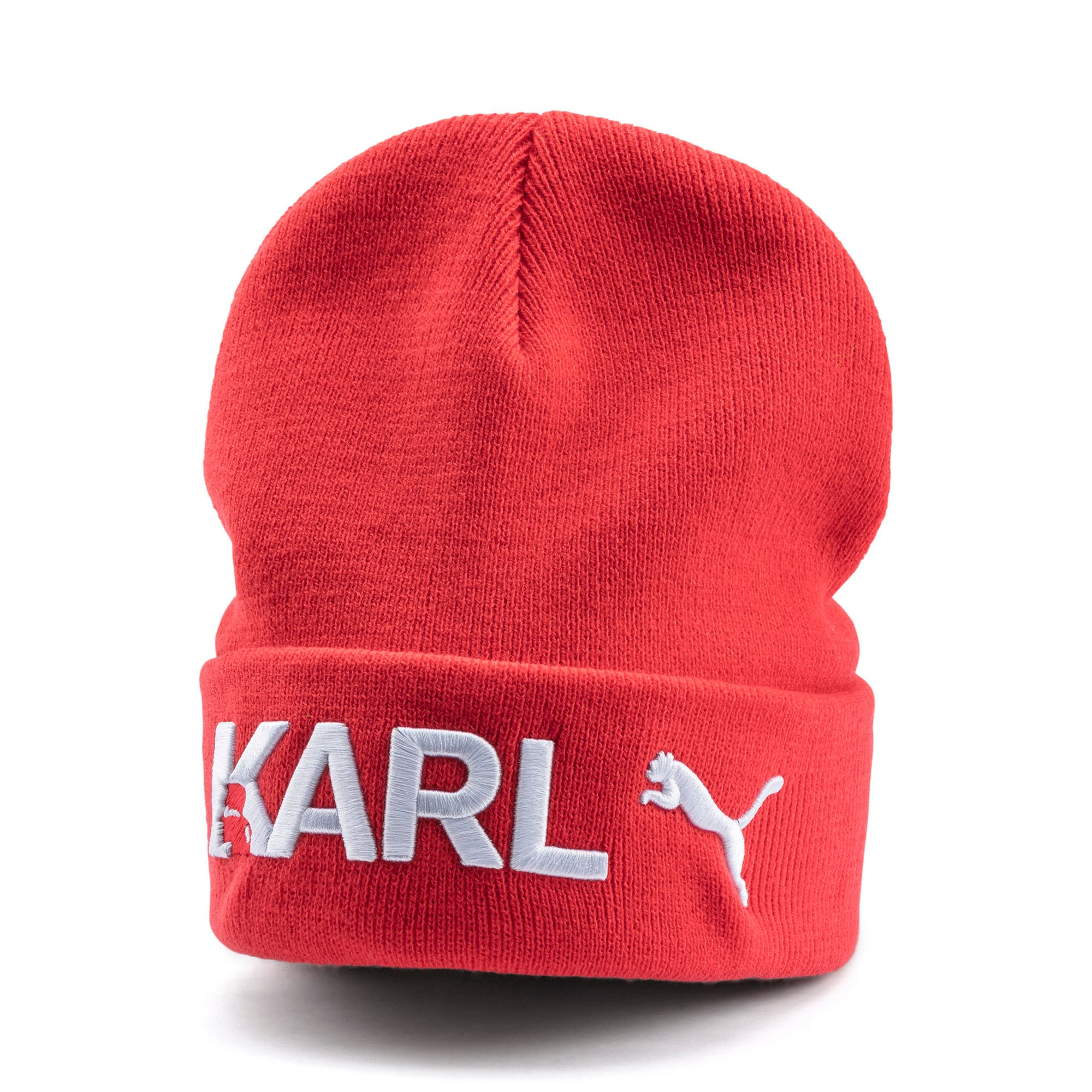 Thumbnail 1 of PUMA x KARL LAGERFELD Beanie, High Risk Red, medium