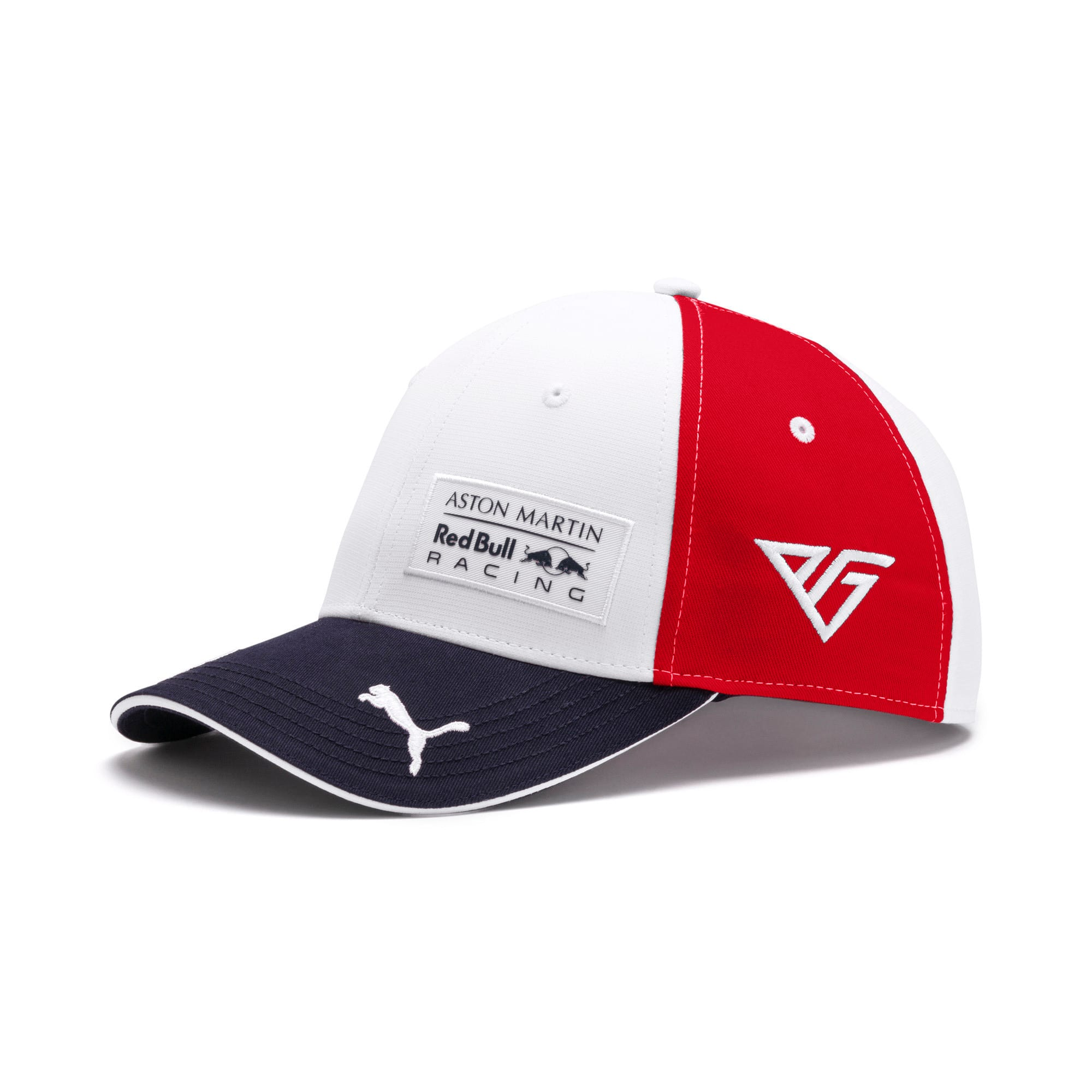 Thumbnail 1 of Pierre Gasly Red Bull Racing Cap, Puma White-Chinese Red, medium