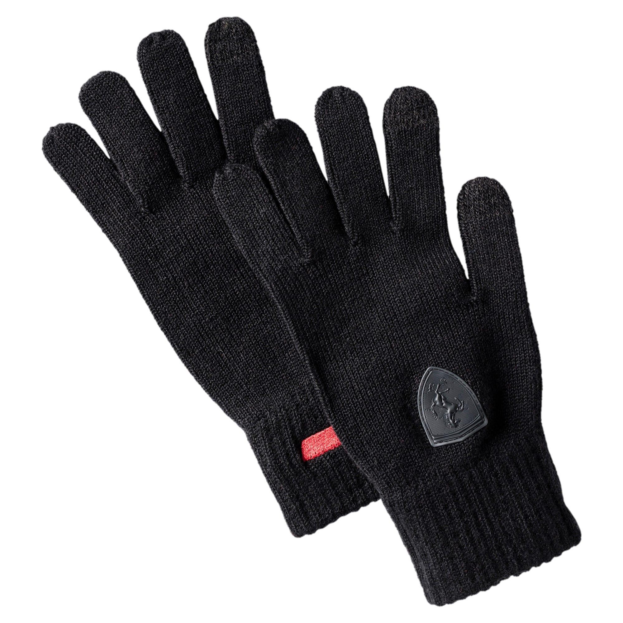 Thumbnail 1 of Ferrari Knit Gloves, Puma Black, medium-IND