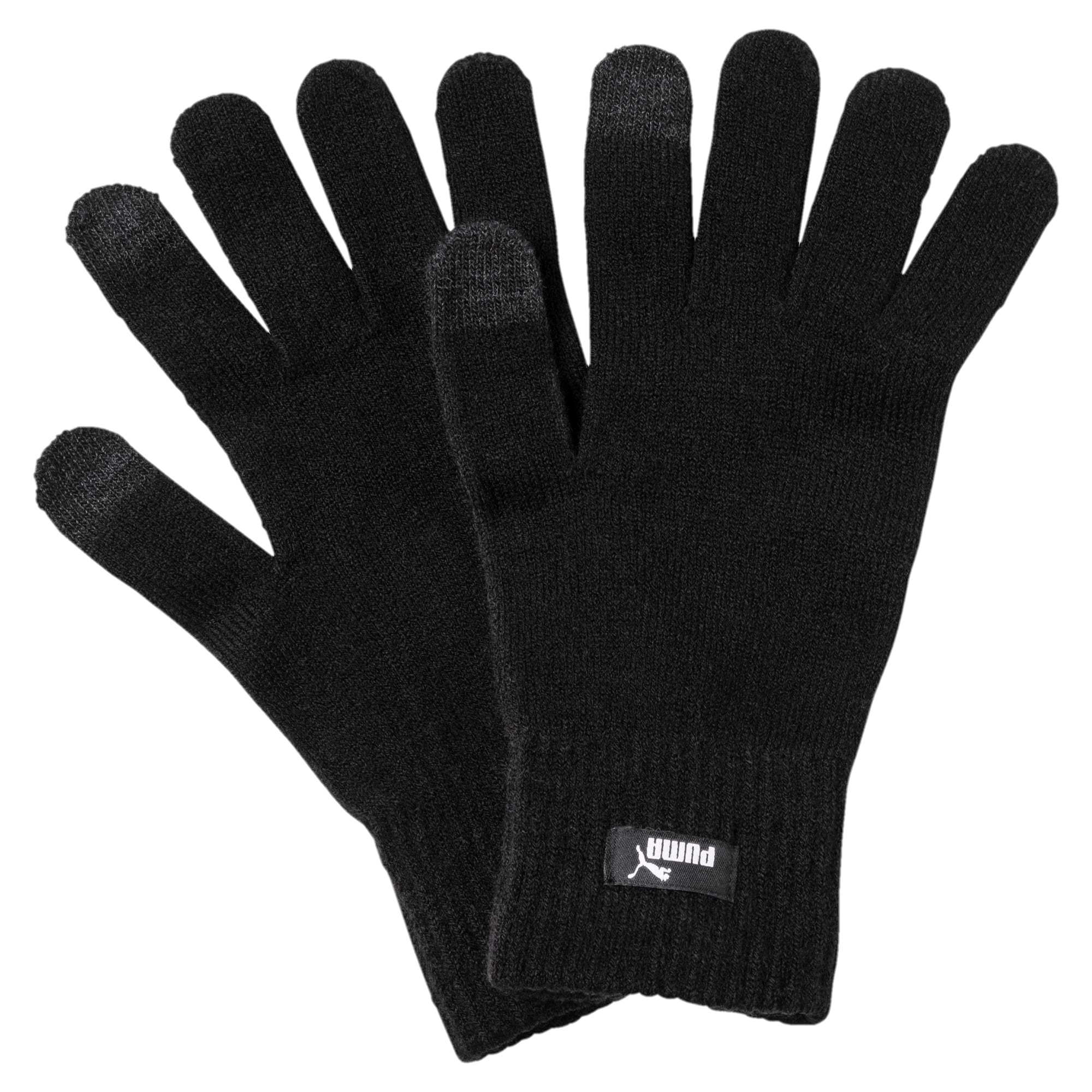 Thumbnail 1 of PUMA Knitted Gloves, Puma Black-N.1 LOGO, medium