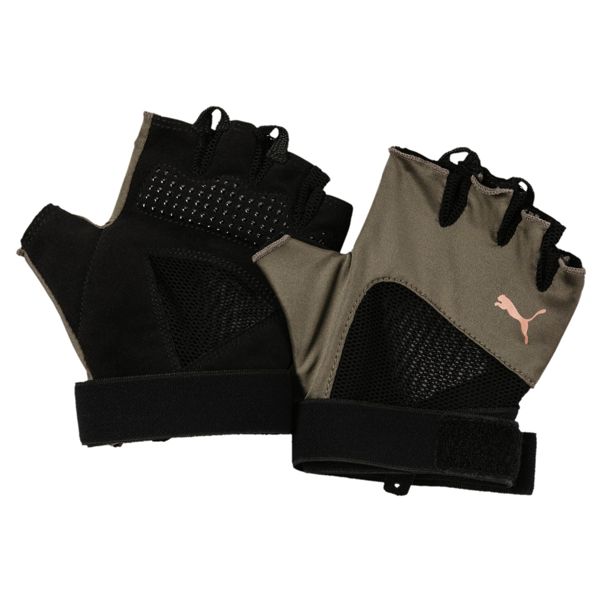 Thumbnail 1 of Active Training Women's Combat Training Gloves, Olive Night-Puma Black, medium-IND