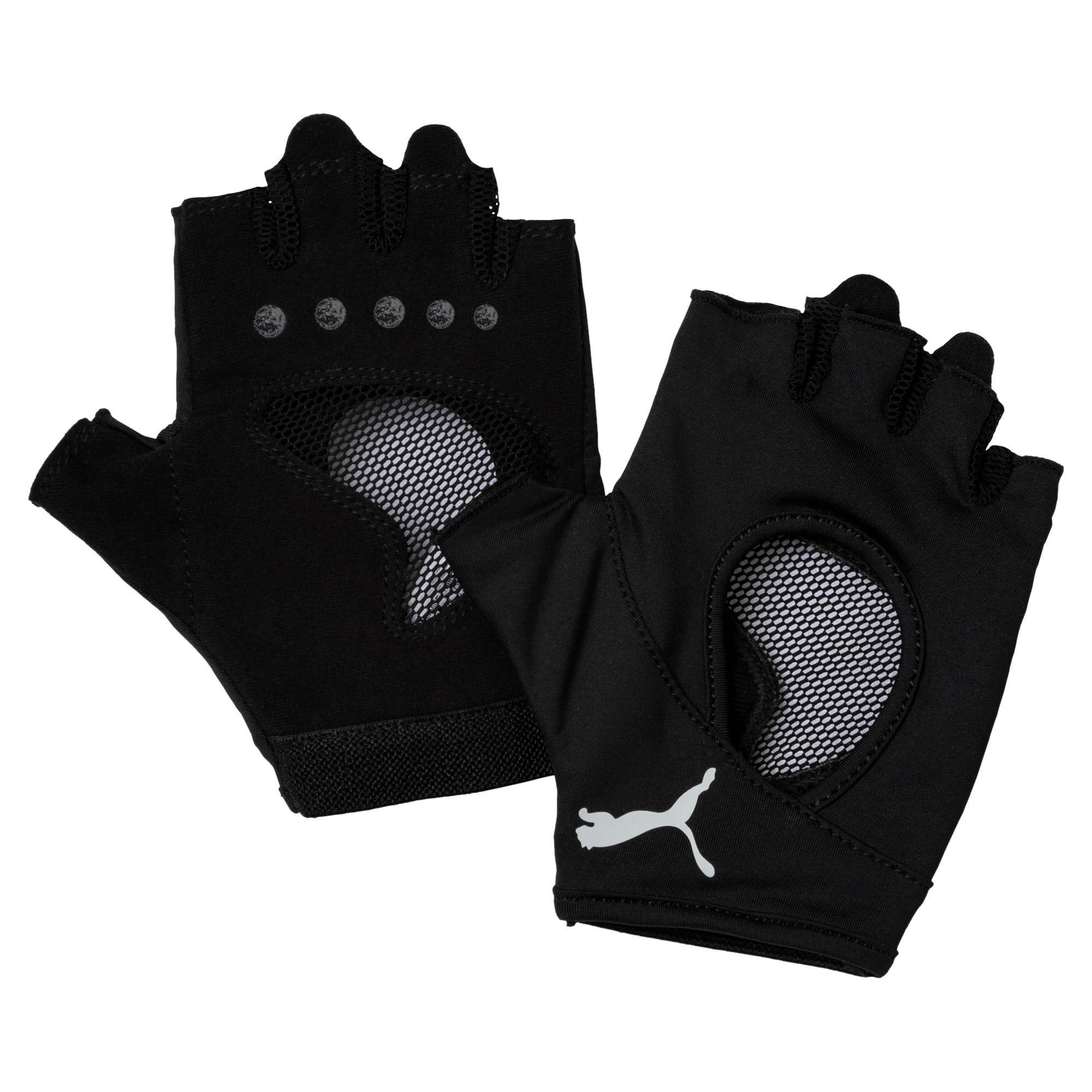 Thumbnail 1 of Women's Training Gym Gloves, Puma Black-Gray Violet, medium-IND