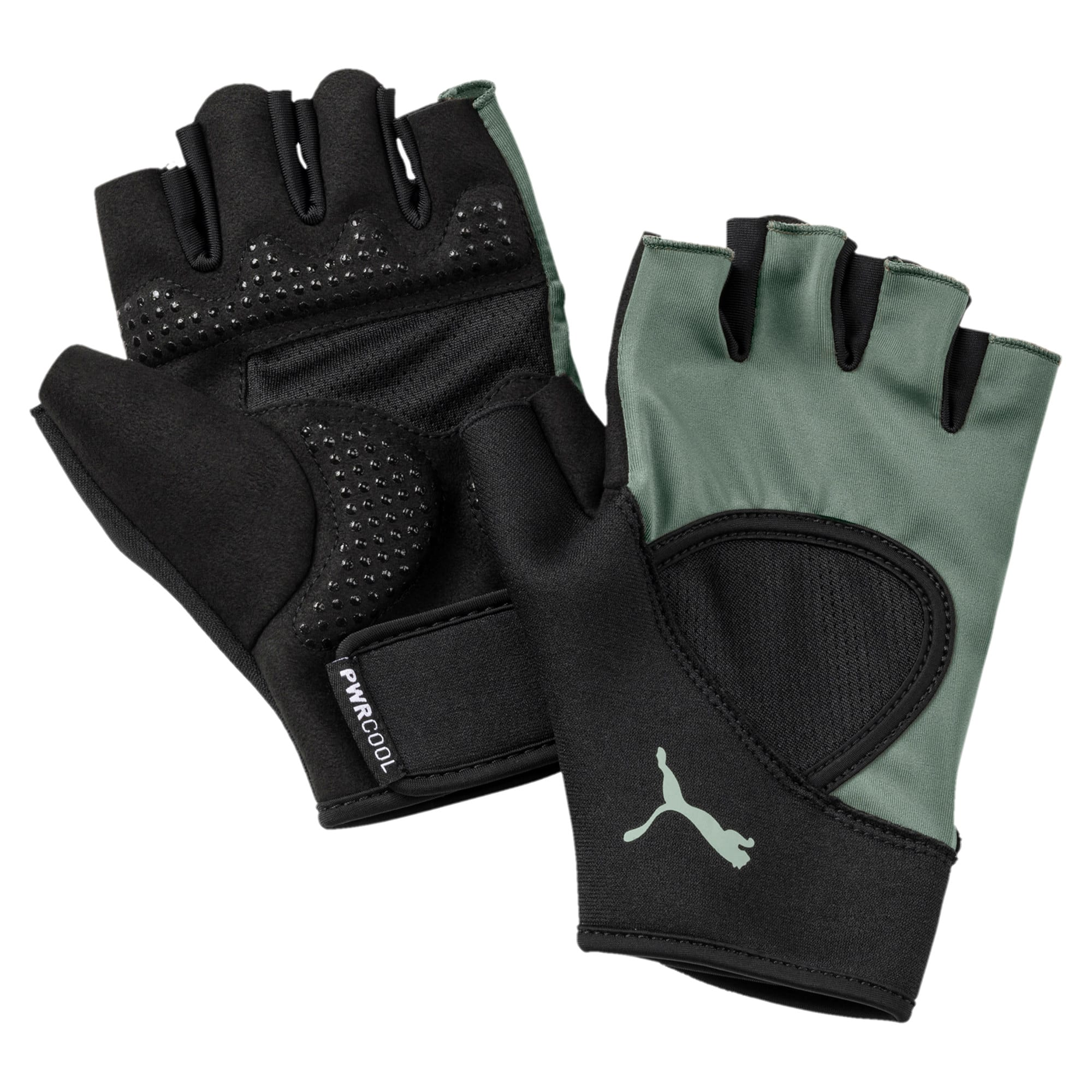 Thumbnail 1 of Essential Training Fingered Gloves, Puma Black-Laurel Wreath, medium-IND