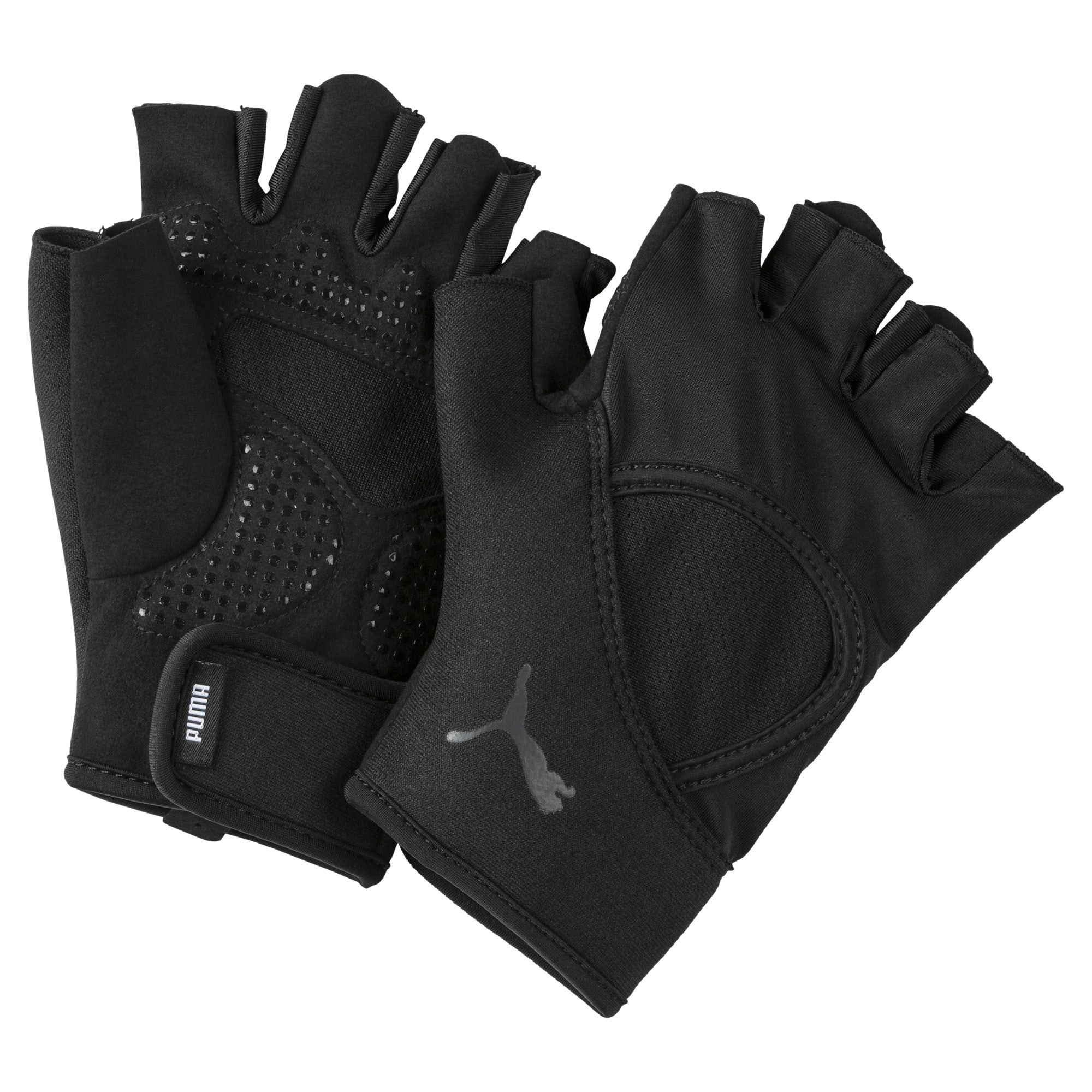 Thumbnail 1 of Essential Training Fingered Gloves, Puma Black, medium-IND