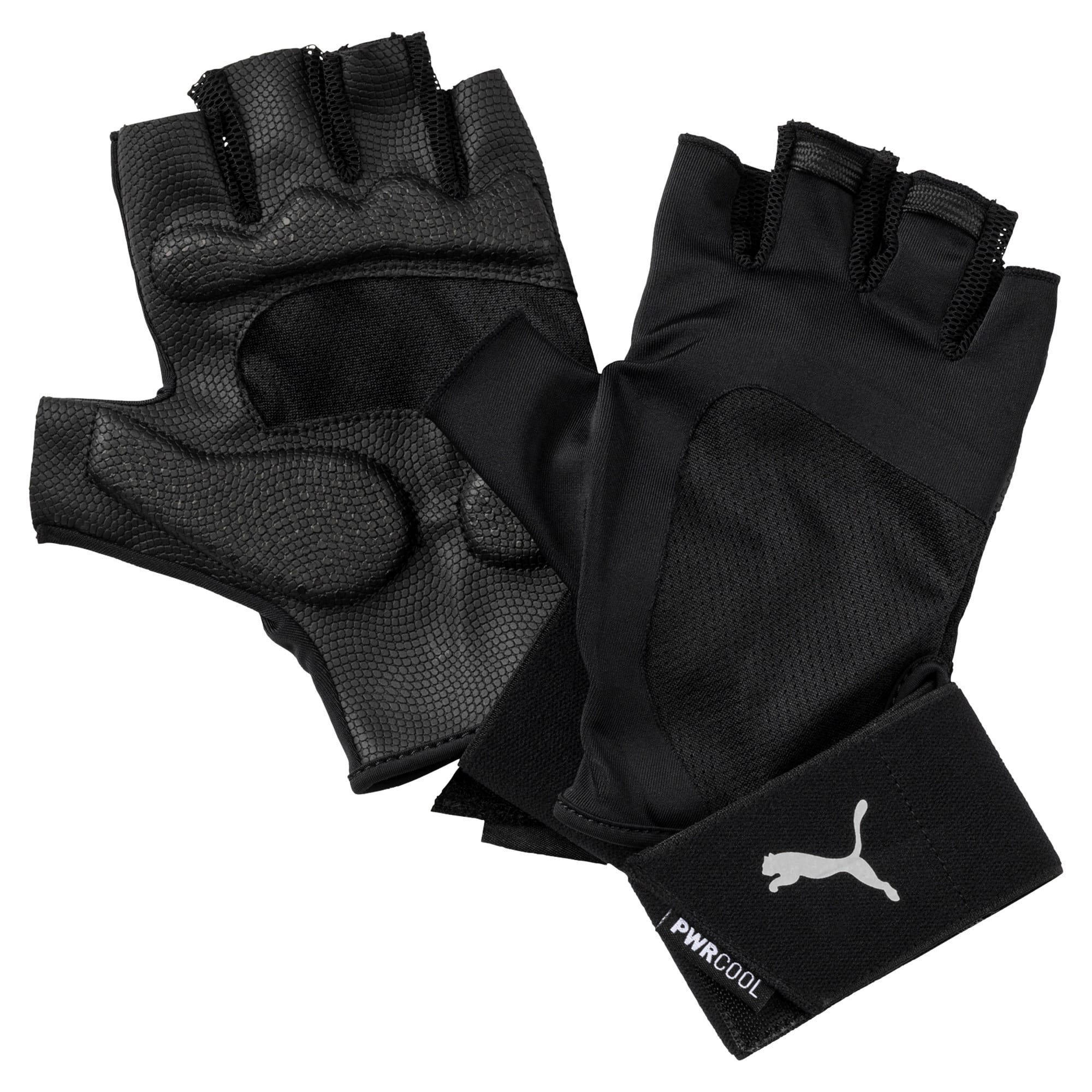 Thumbnail 1 of Training Men's Essential Premium Gloves, Puma Black-Gray Violet, medium-IND