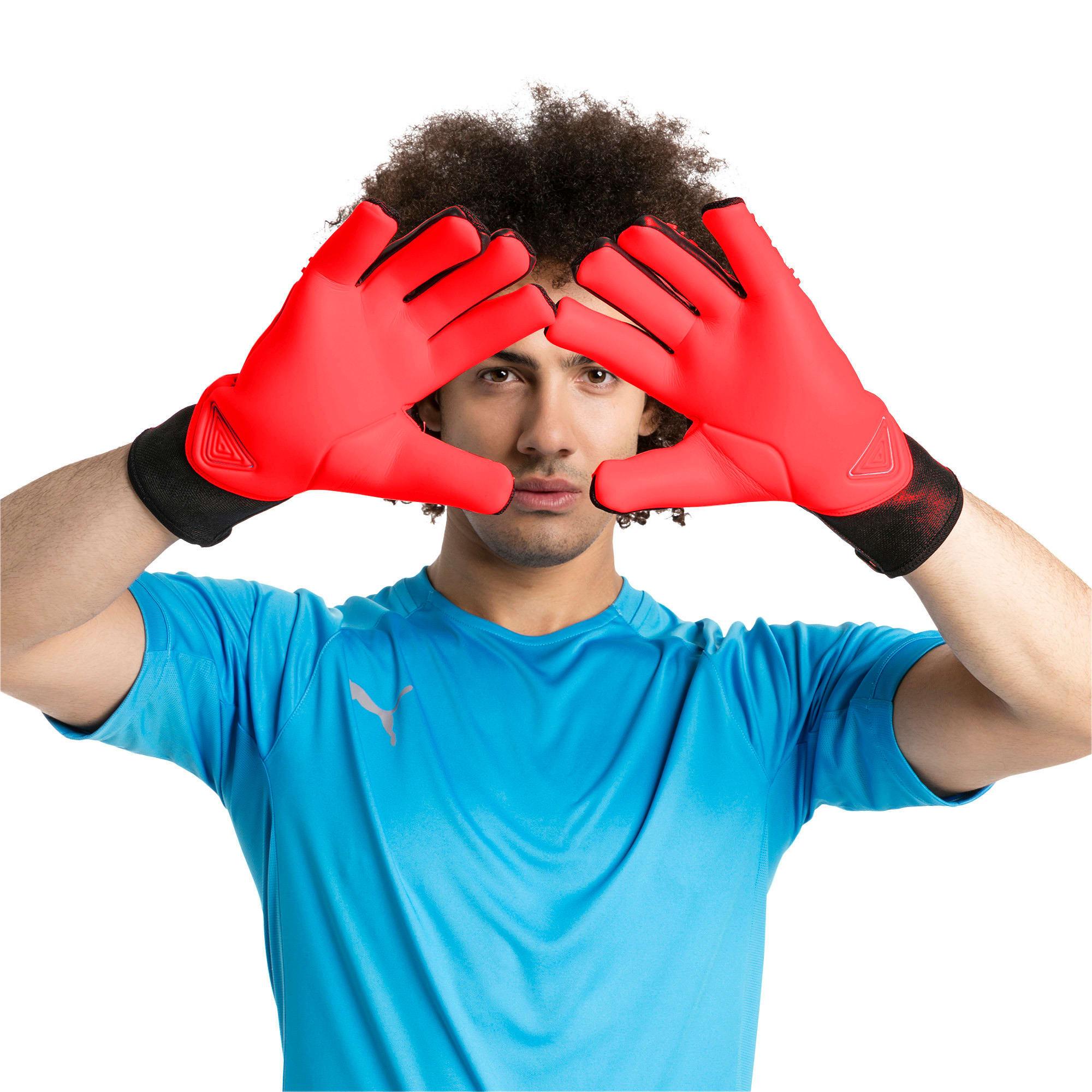 Thumbnail 2 of FUTURE Grip 2.1 Goalkeeper Gloves, Red Blast-Puma Black-White, medium