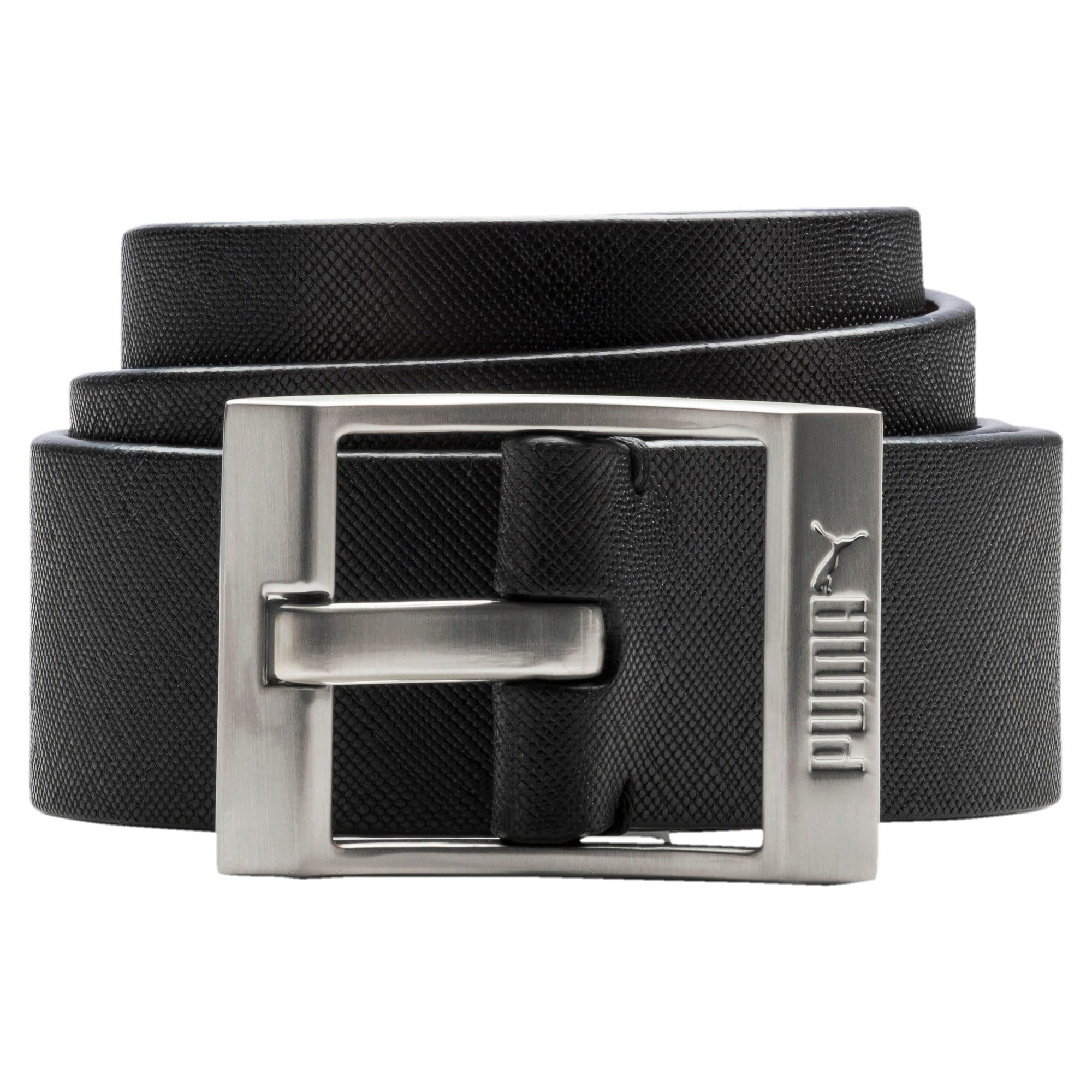 Thumbnail 1 of PUMA Style Leather Belt, Puma Black, medium-IND