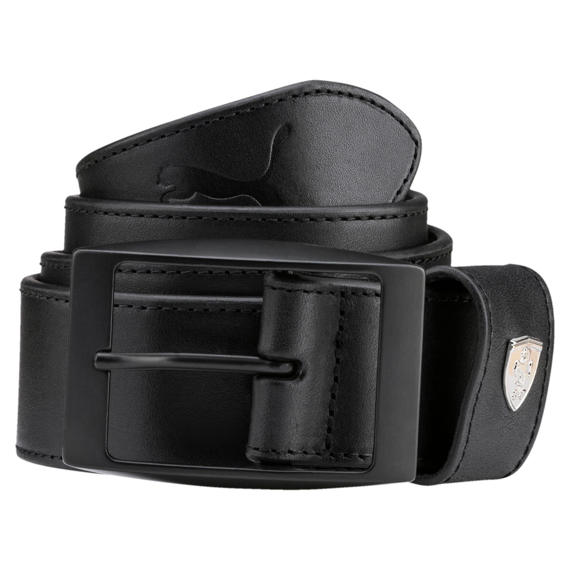 Thumbnail 1 of Ferrari LS Leather Belt, Puma Black, medium-IND