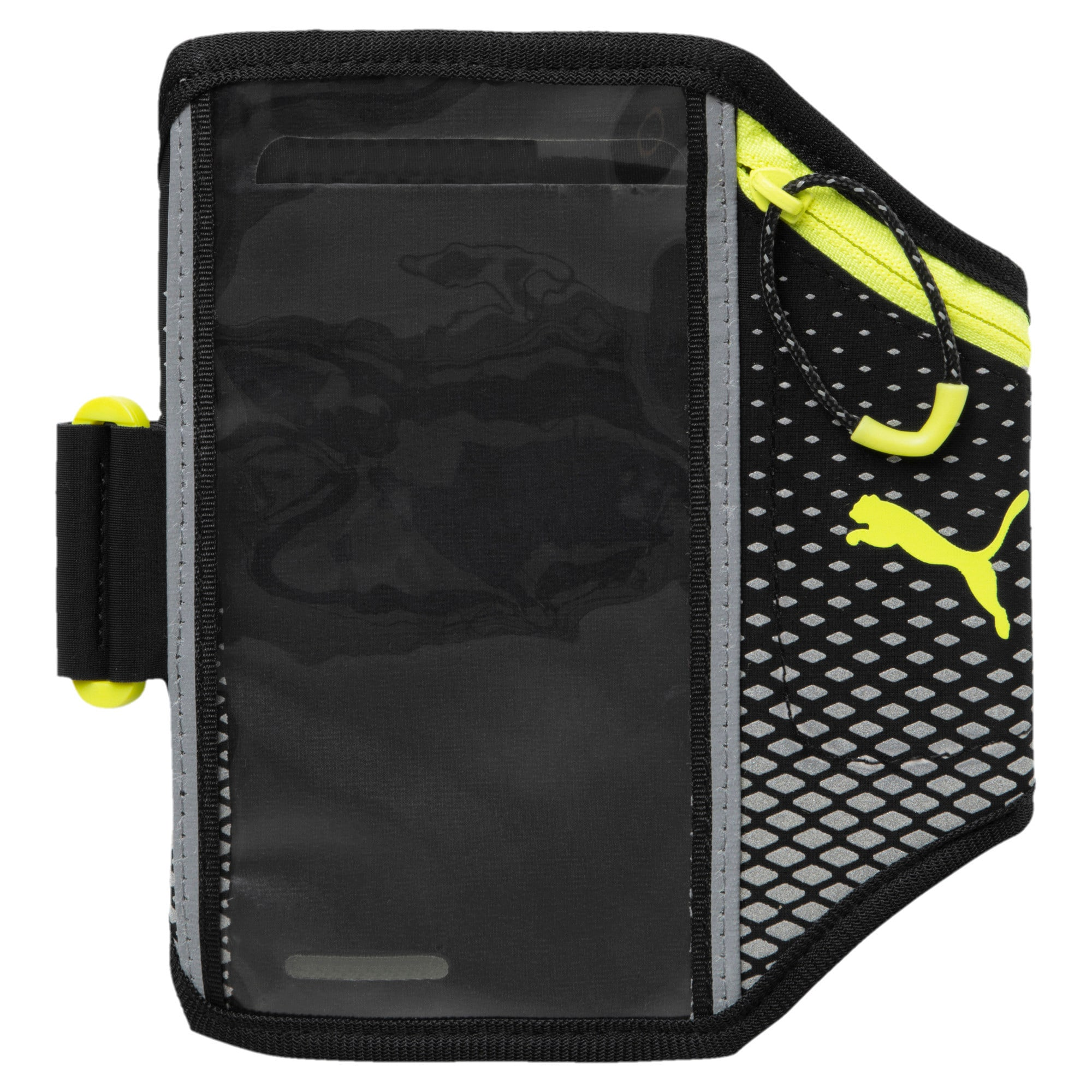 Thumbnail 1 of Running Phone Armband, Black-nrgy yellow-nightcat, medium-IND