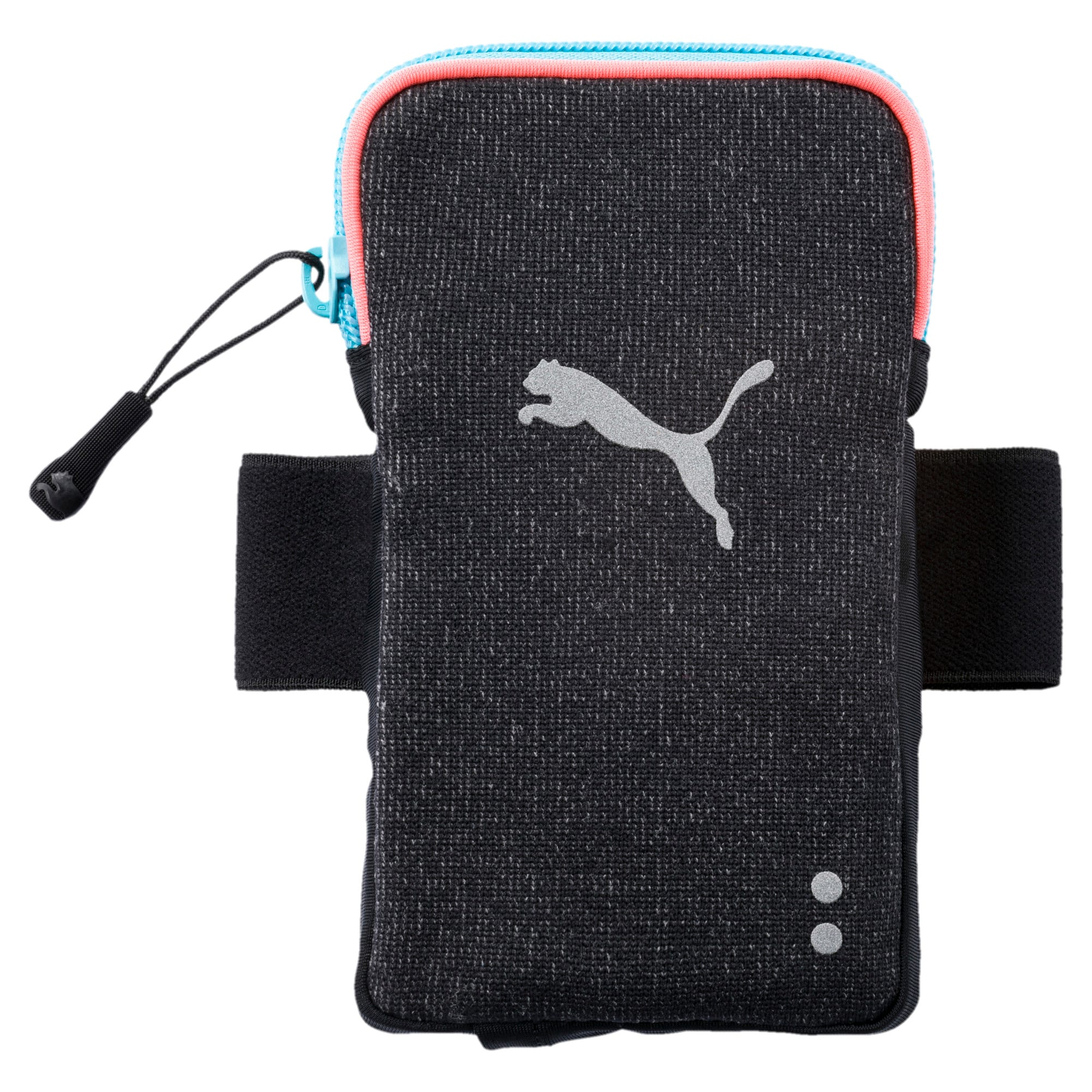 Thumbnail 1 of Running Arm Pocket, Puma Black-Peach-turquoise, medium-IND