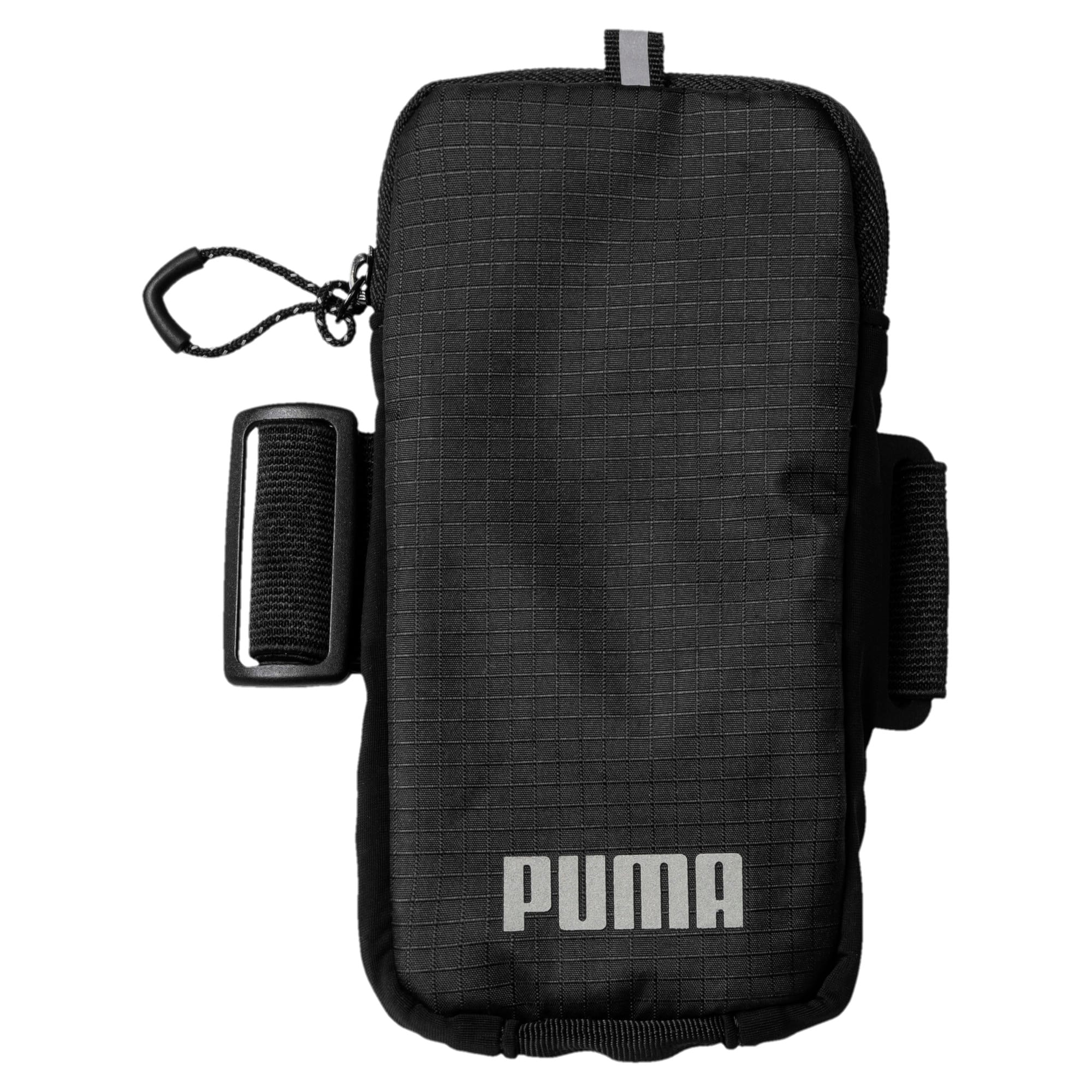 Thumbnail 1 of Running Arm Pocket, Puma Black-Puma Silver, medium-IND