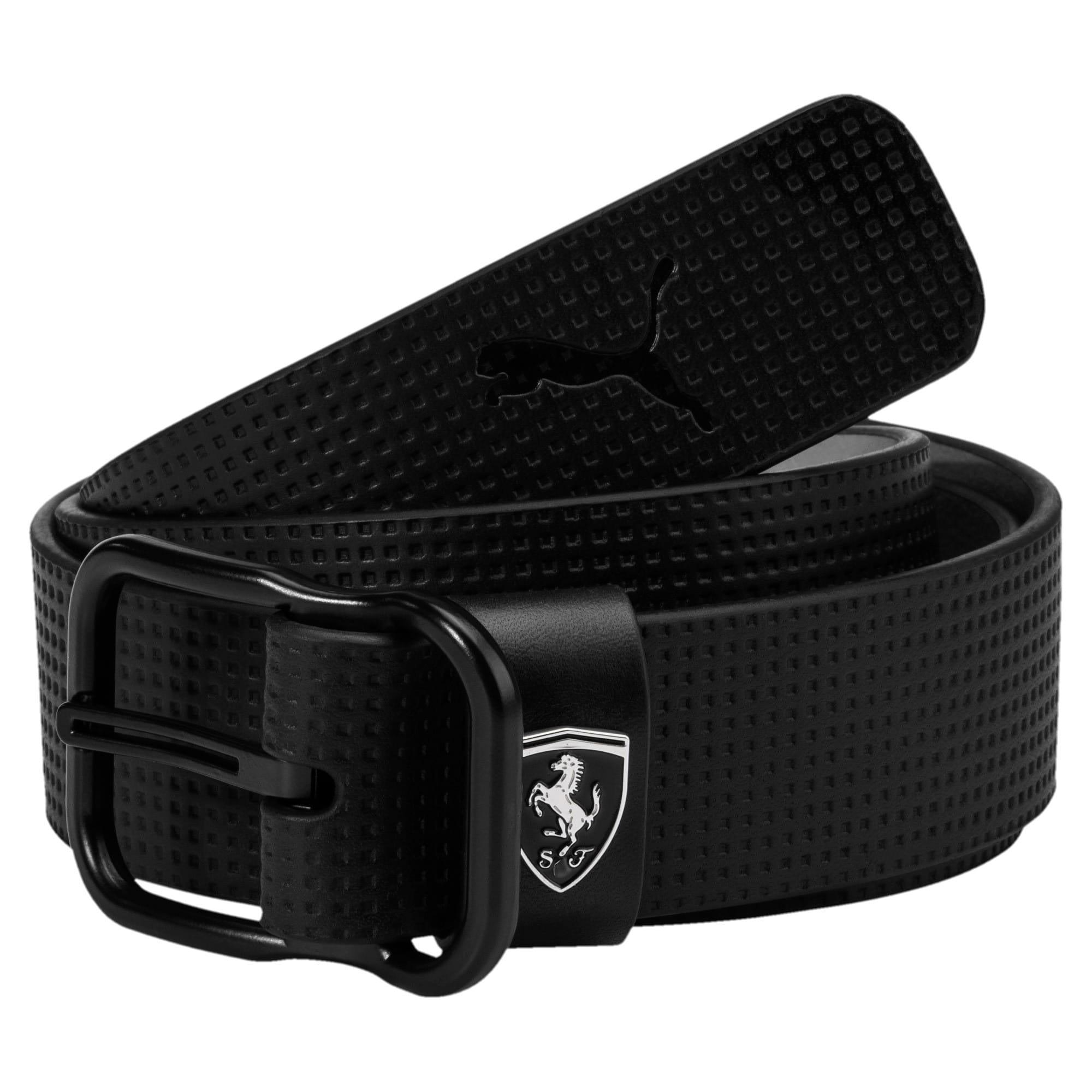 Thumbnail 1 of Ferrari Leather Belt, Puma Black, medium-IND