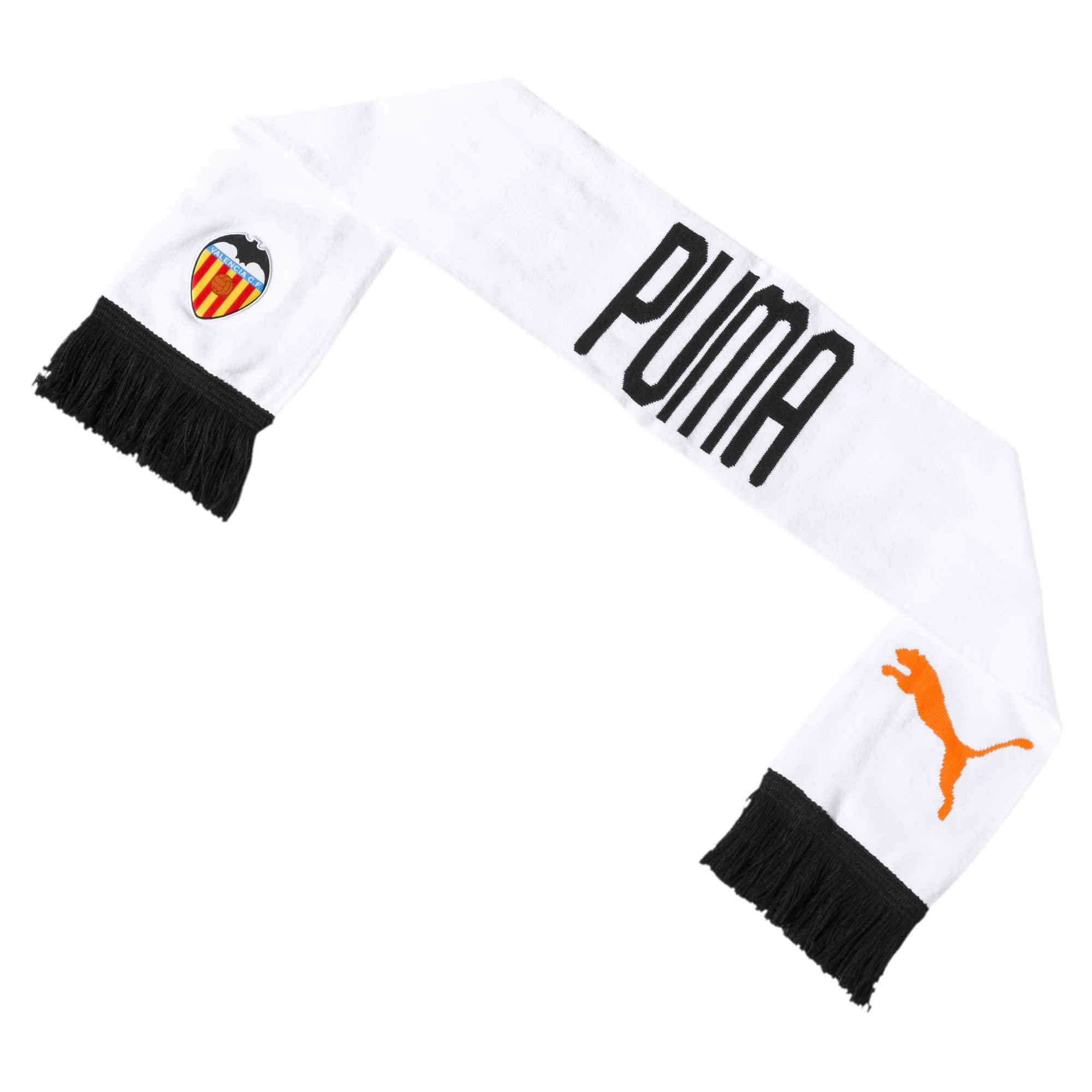Thumbnail 2 of Valencia CF Fan Scarf, Puma White-Puma Black, medium