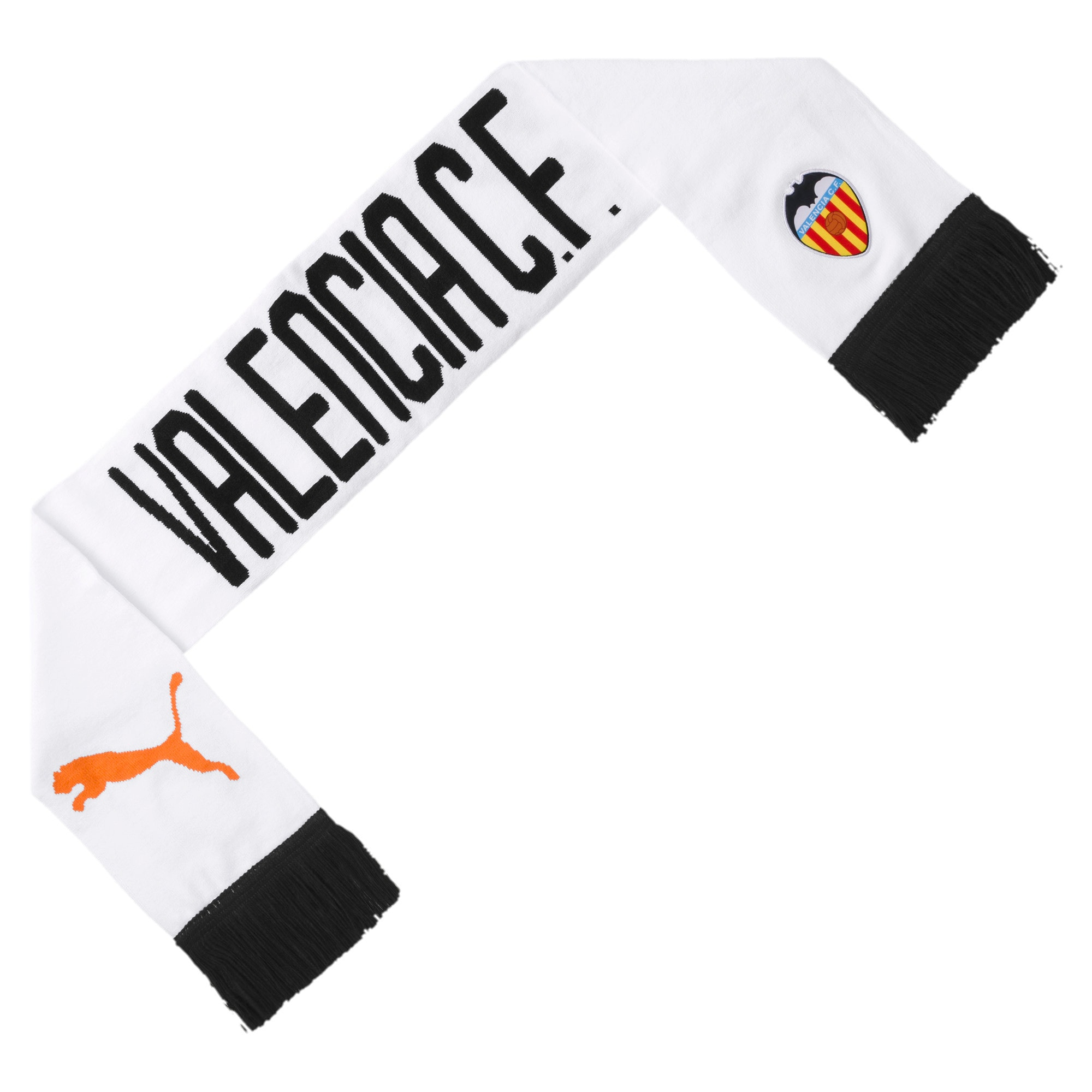 Thumbnail 1 of Valencia CF Fan Scarf, Puma White-Puma Black, medium