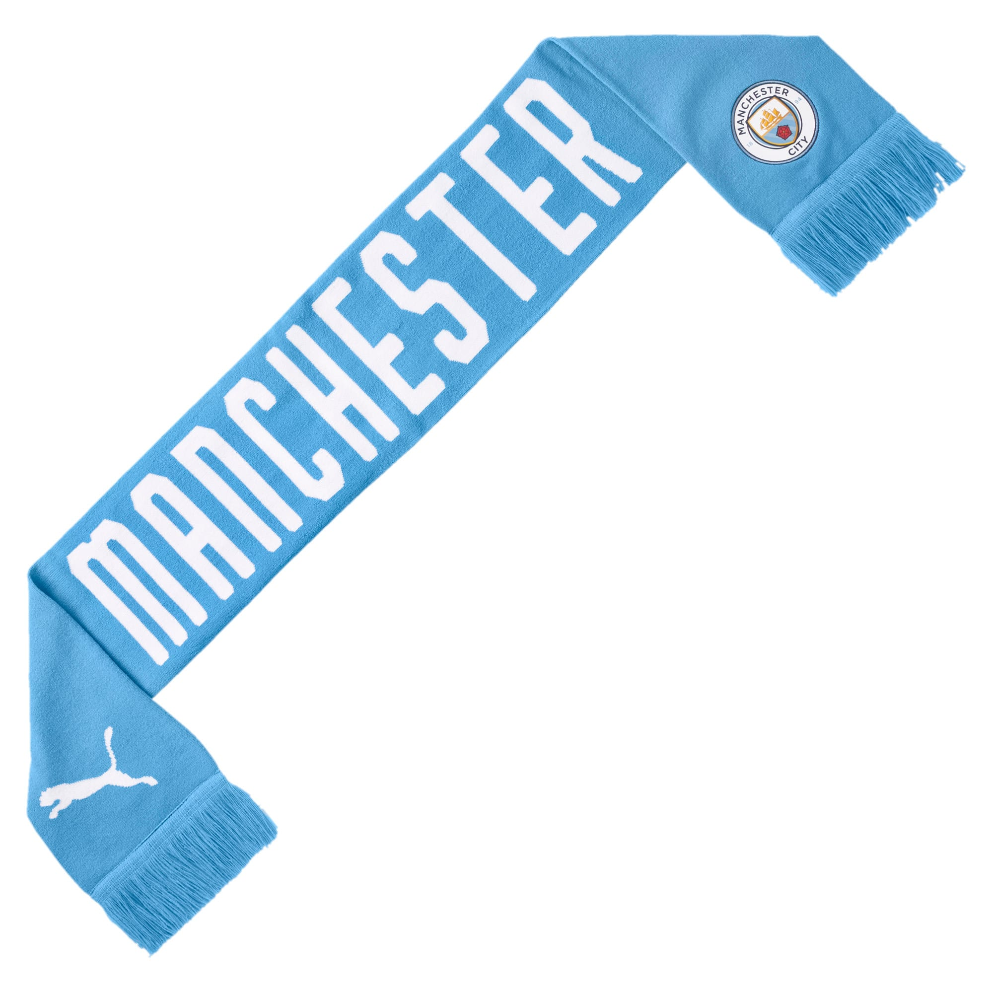 Thumbnail 1 of Manchester City FC DNA Fan Schal, Team Light Blue-Puma White, medium