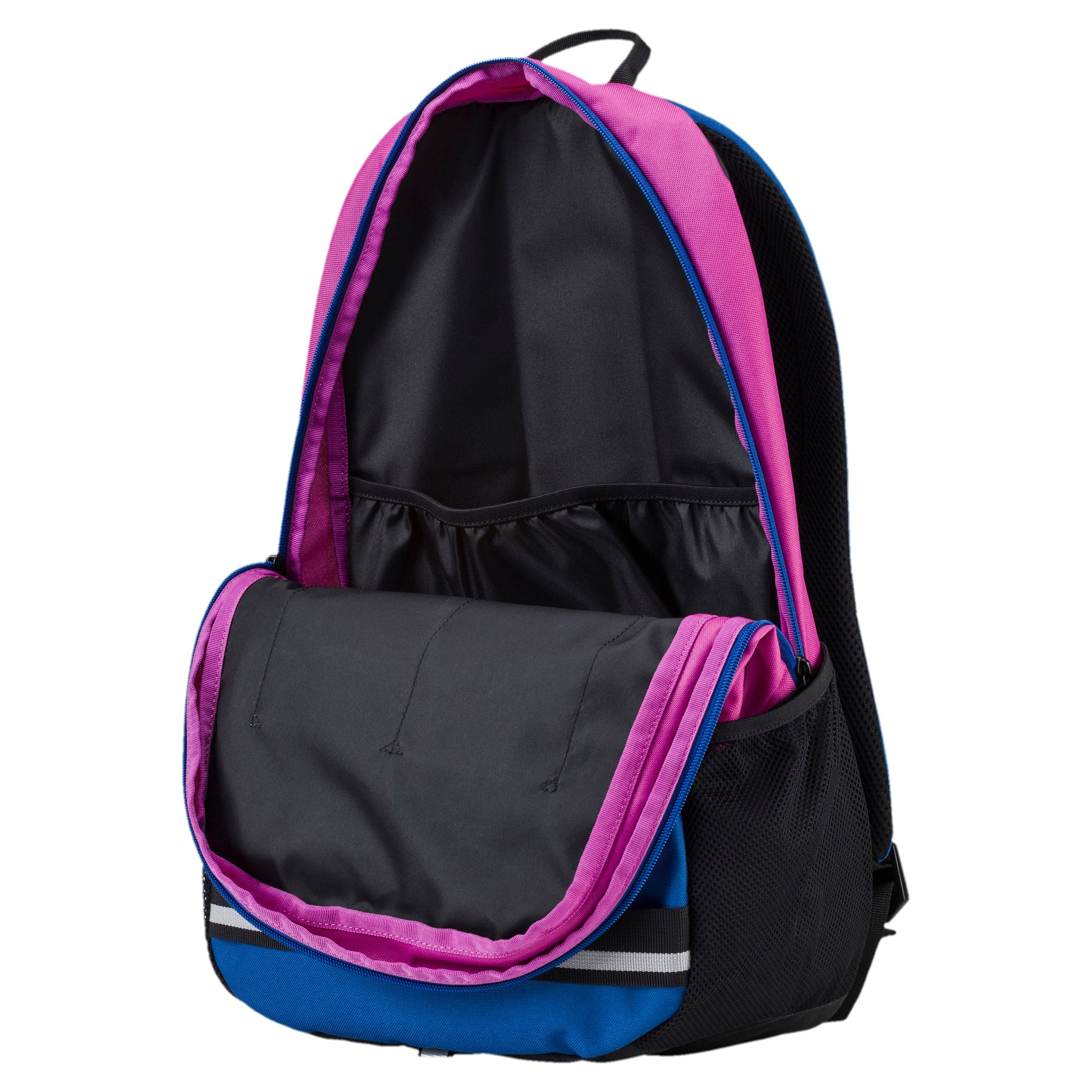 Thumbnail 3 of PUMA Deck Backpack, Rose Violet-TRUE BLUE, medium-IND