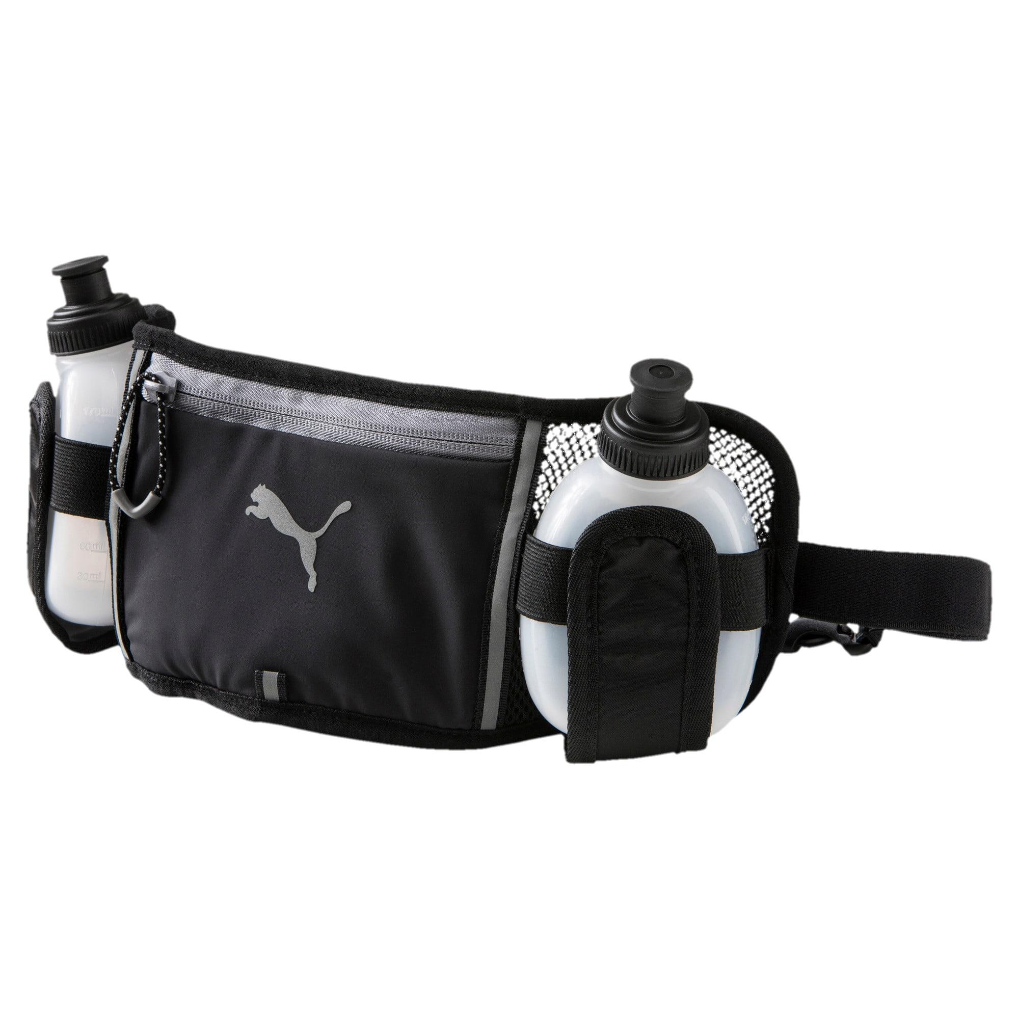 Thumbnail 1 of Running Bottle Waist Bag, Puma Black-QUIET SHADE, medium-IND