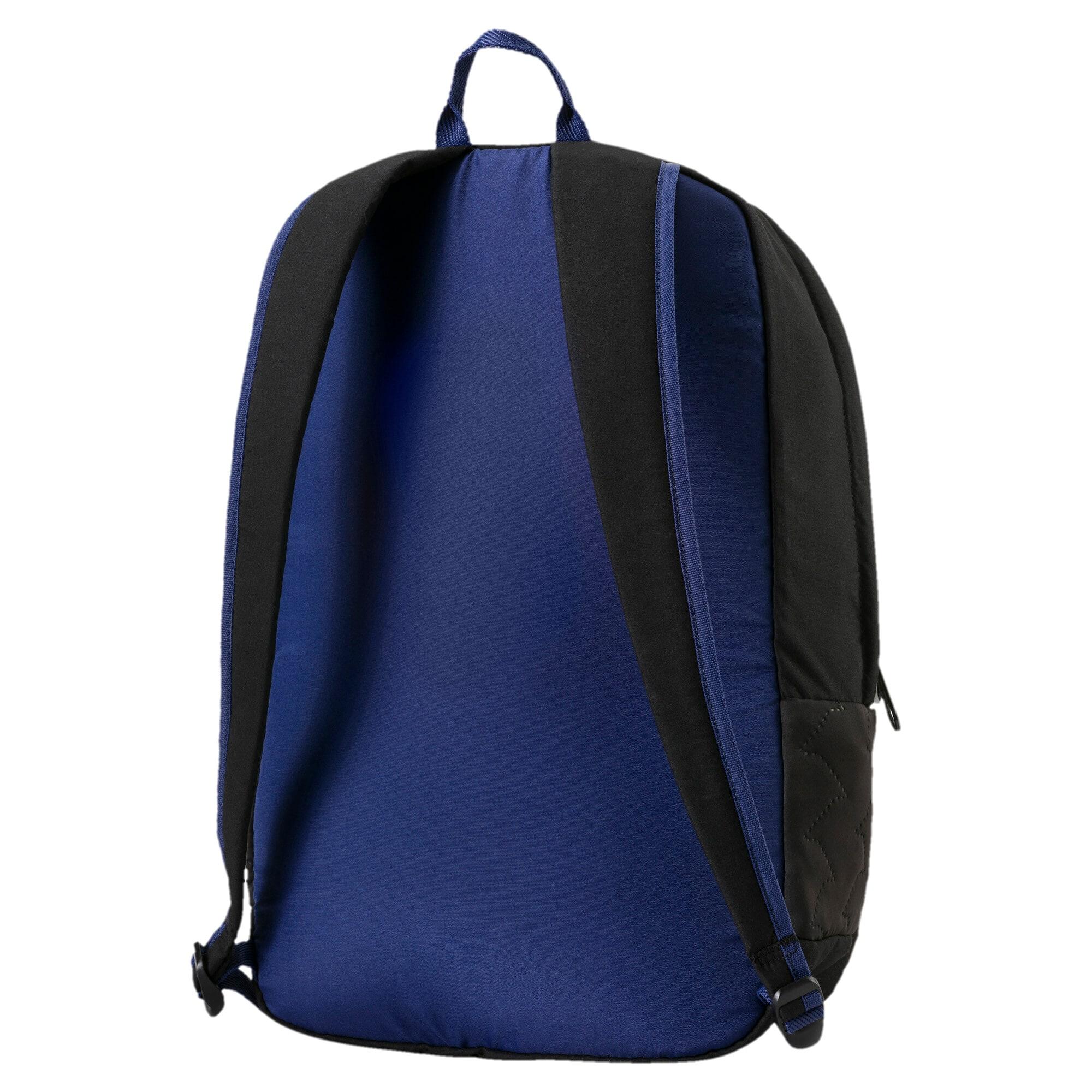 Thumbnail 2 of Women's Prime Lux Backpack, Puma Black-Blue Depths, medium-IND
