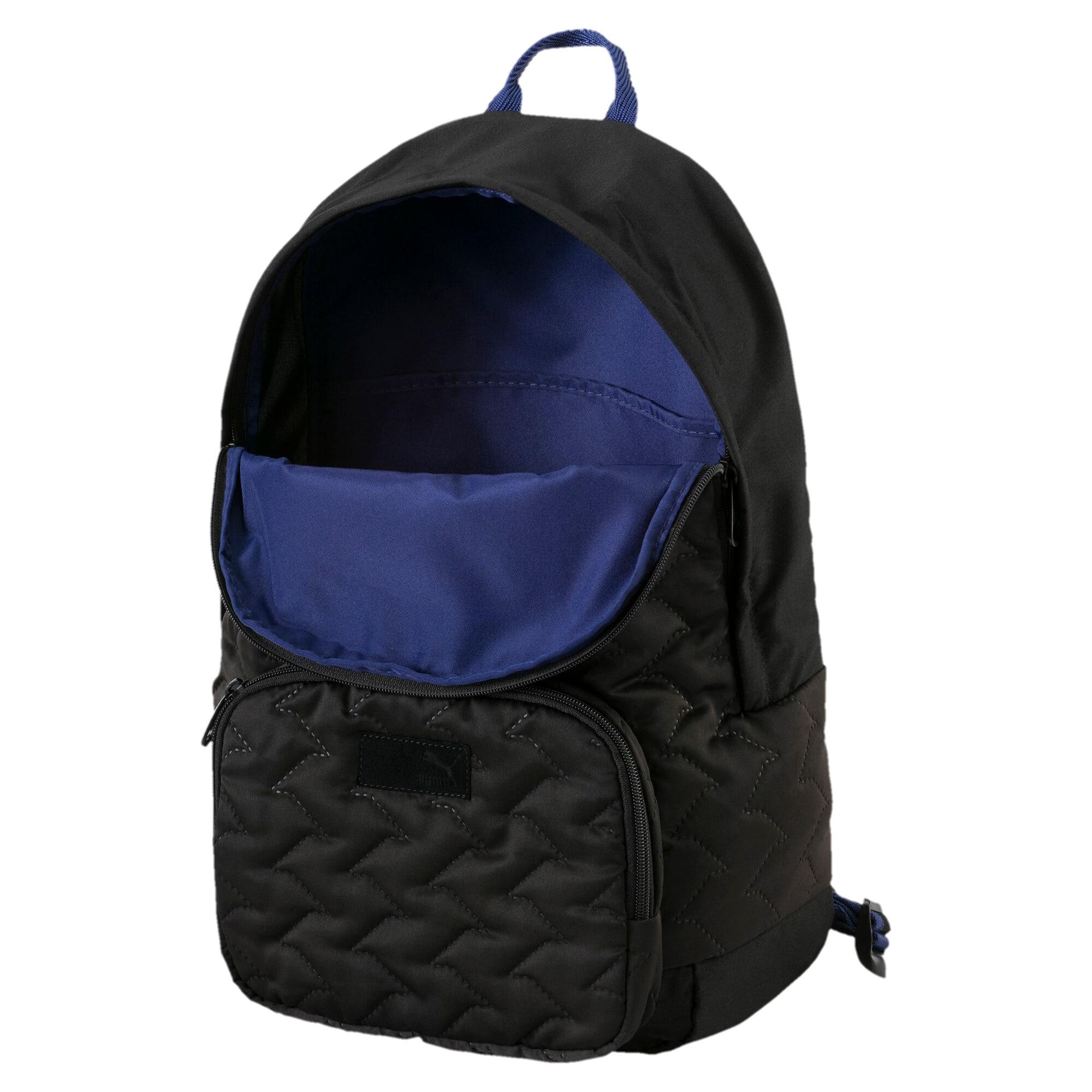 Thumbnail 3 of Women's Prime Lux Backpack, Puma Black-Blue Depths, medium-IND