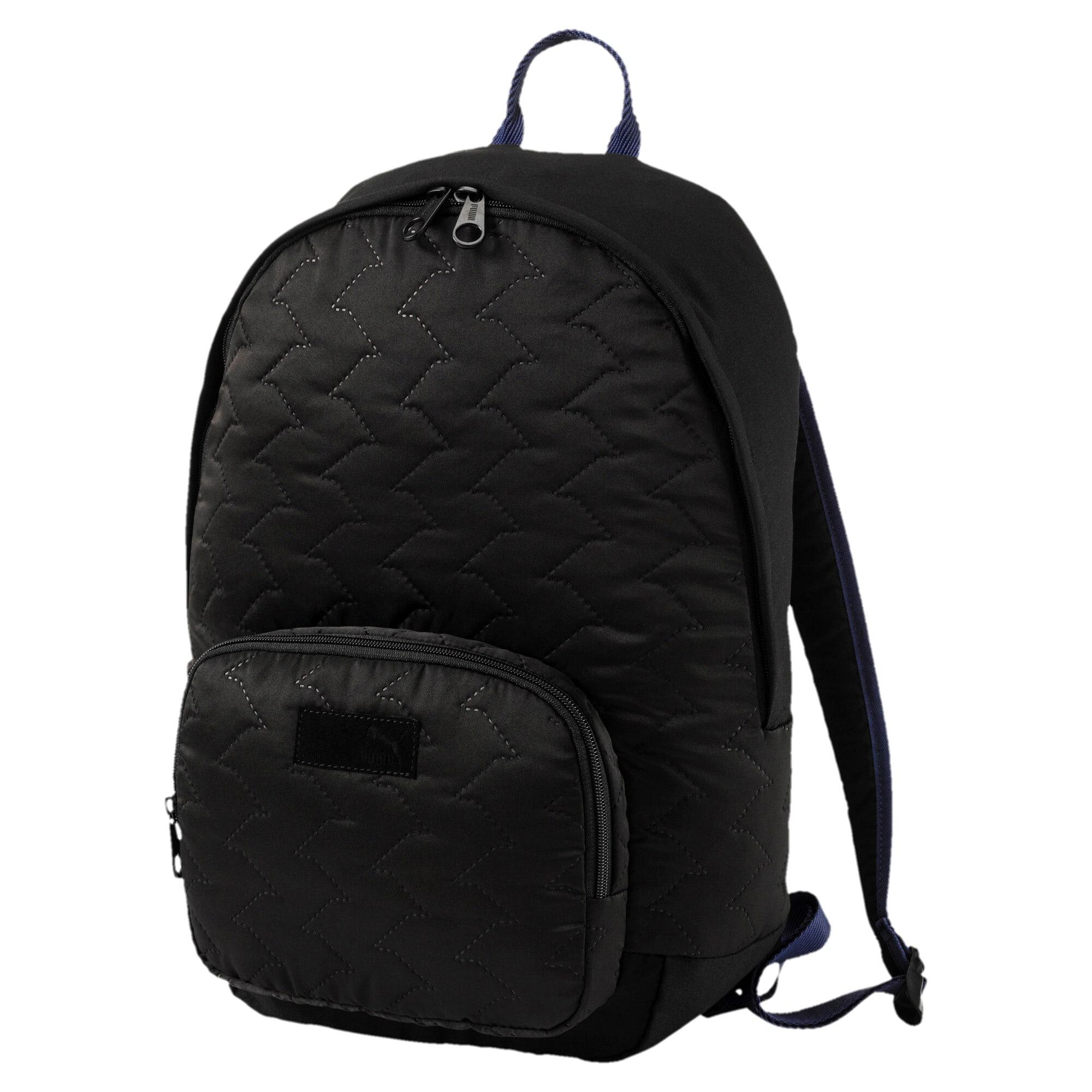 Thumbnail 1 of Women's Prime Lux Backpack, Puma Black-Blue Depths, medium-IND