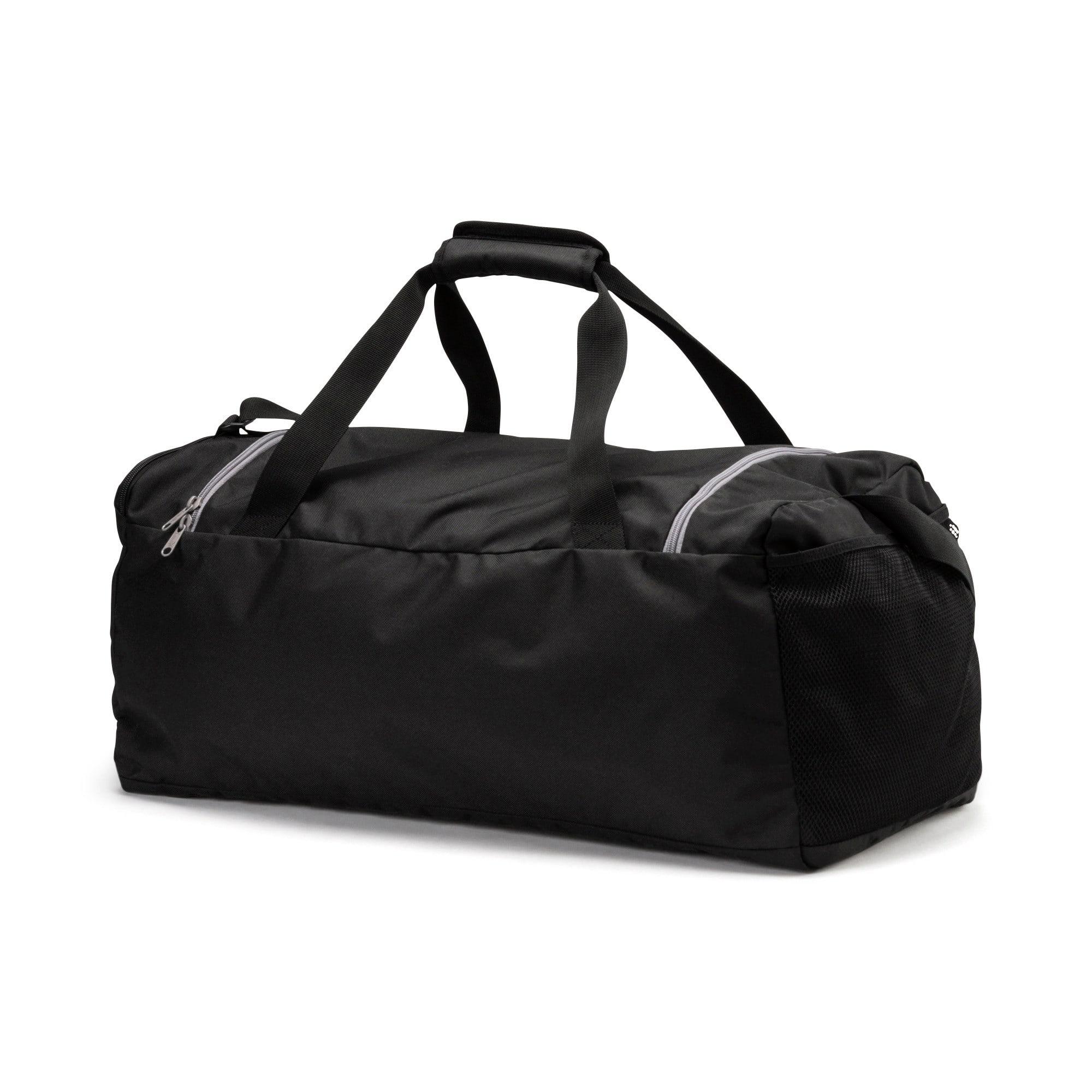 Thumbnail 2 of Fundamentals Medium Sports Bag, Puma Black, medium