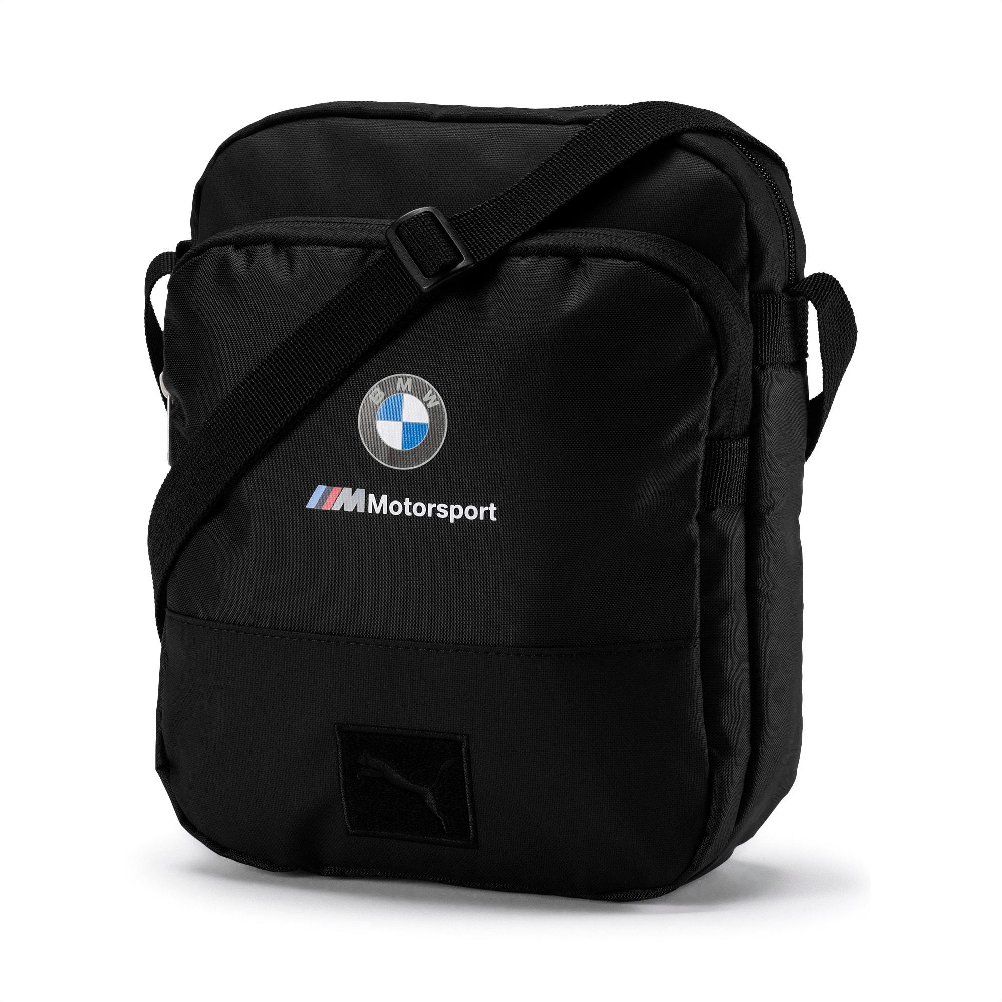 BMW M Motorsport Large Portable Shoulder Bag, Puma Black, large-SEA