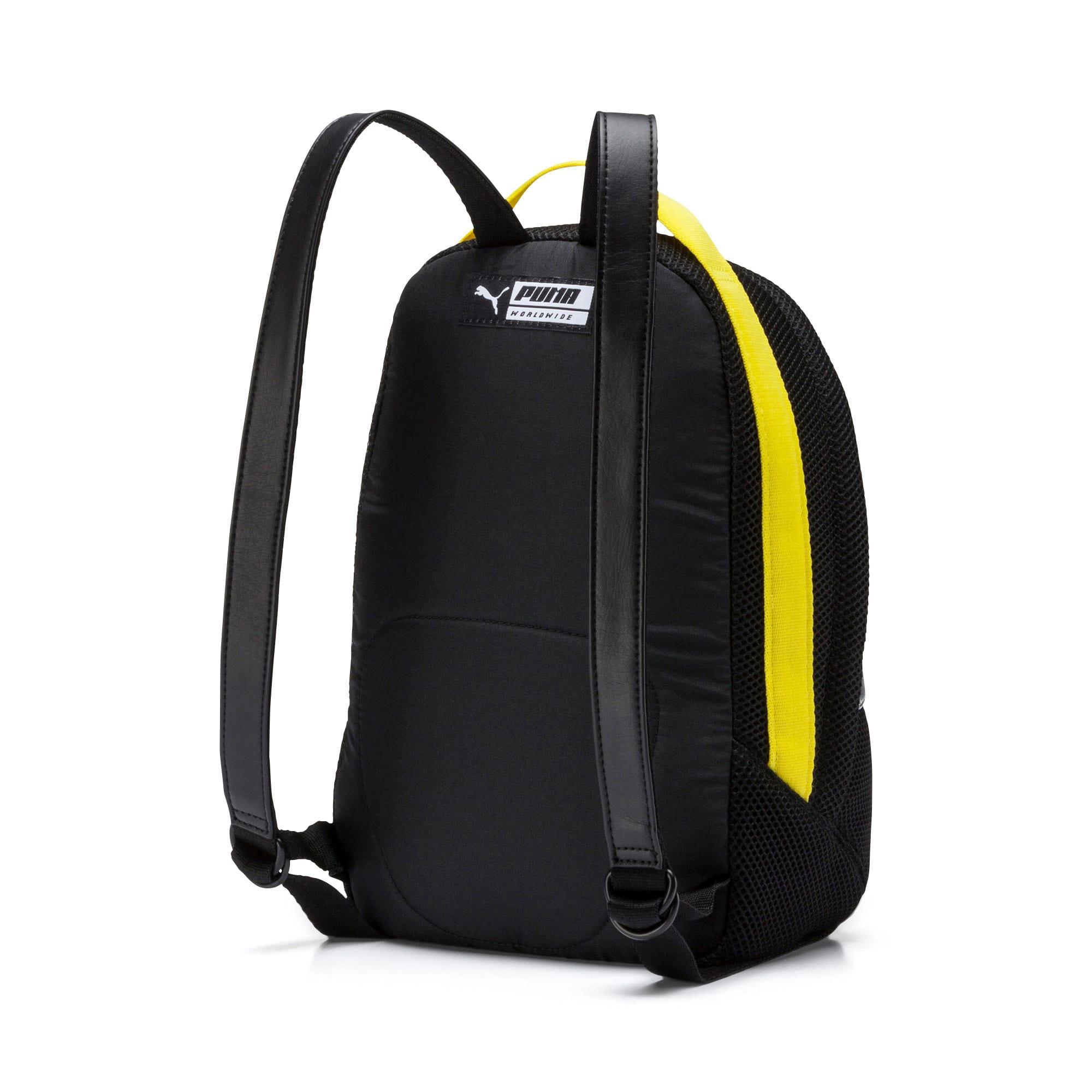 Thumbnail 3 of Women's Street Backpack, Puma Black-Blazing Yellow, medium