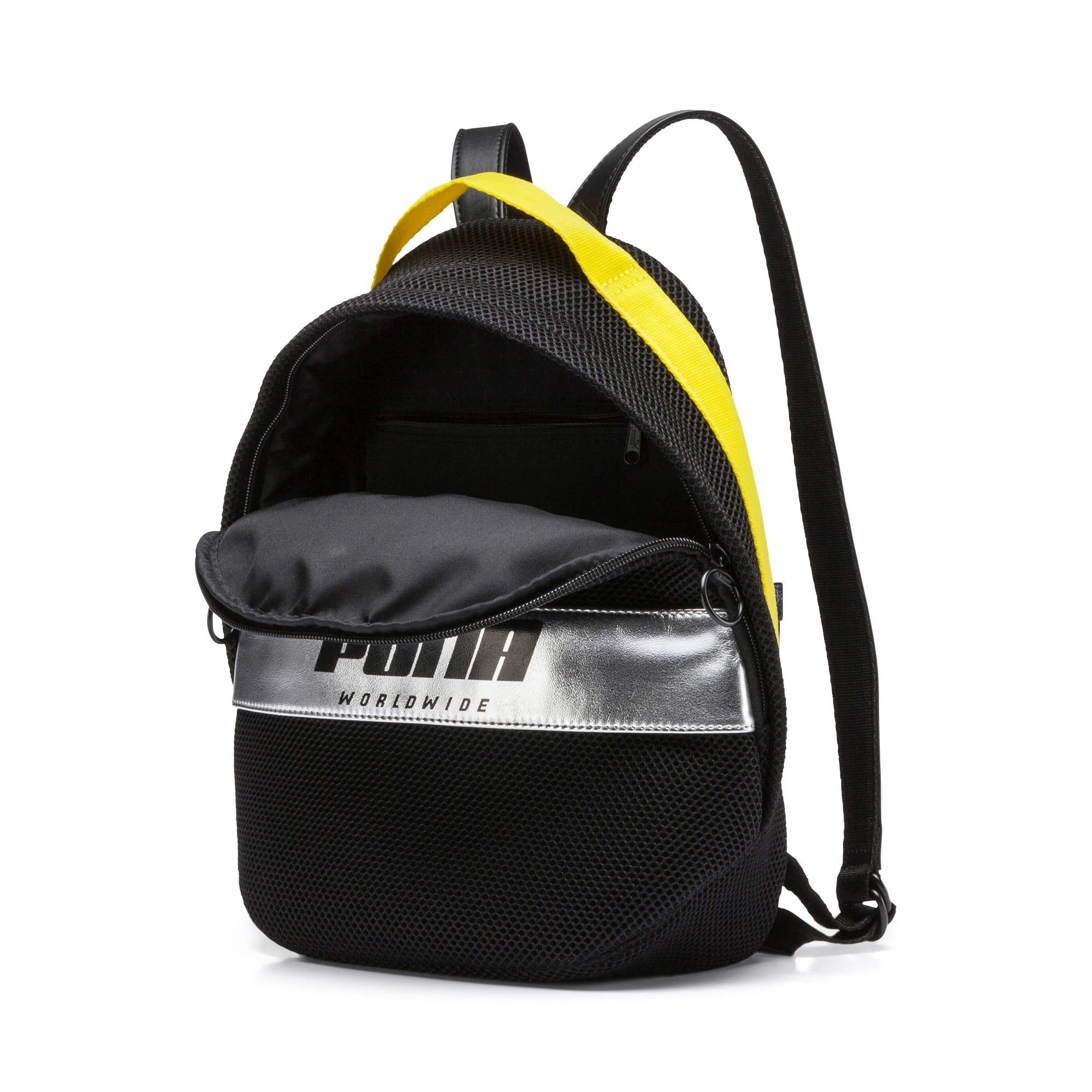 Thumbnail 4 of Women's Street Backpack, Puma Black-Blazing Yellow, medium
