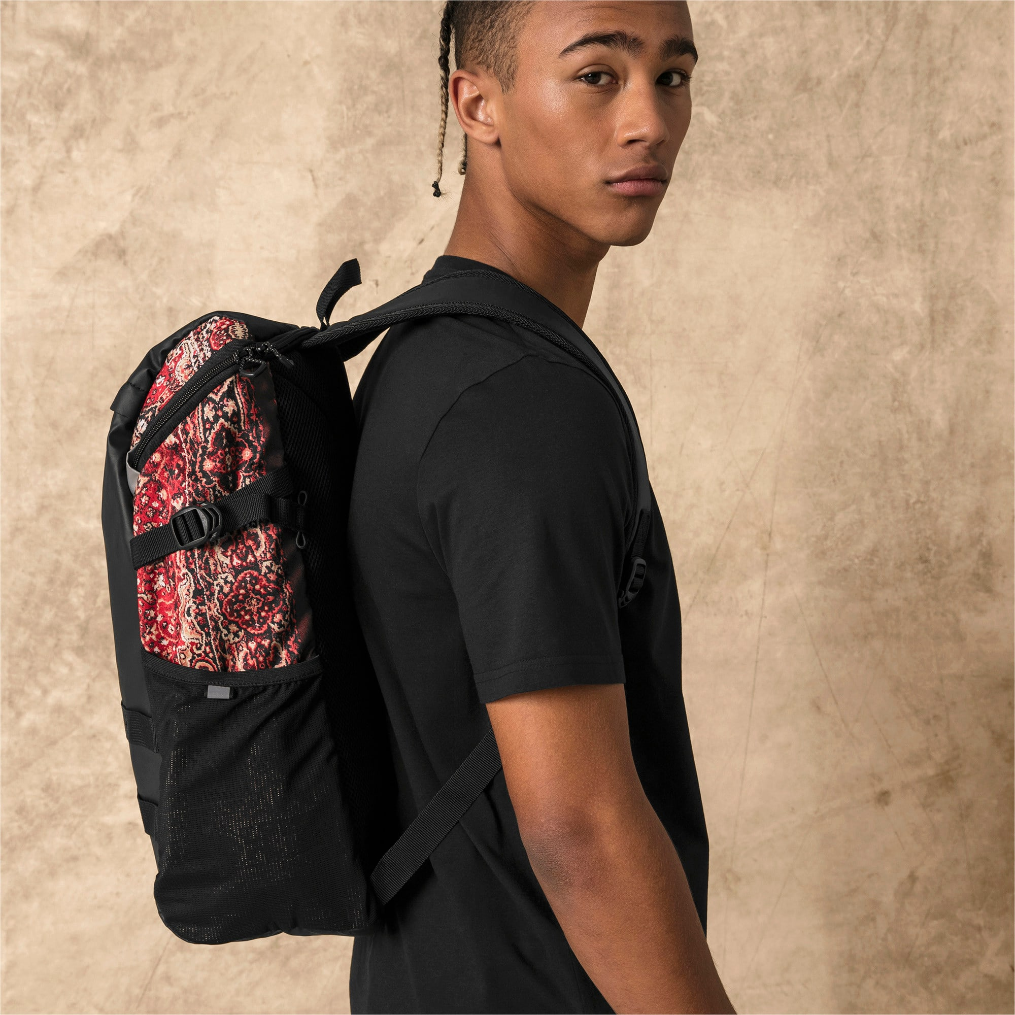 Thumbnail 3 of PUMA x LES BENJAMINS Backpack, Puma Black-AOP, medium