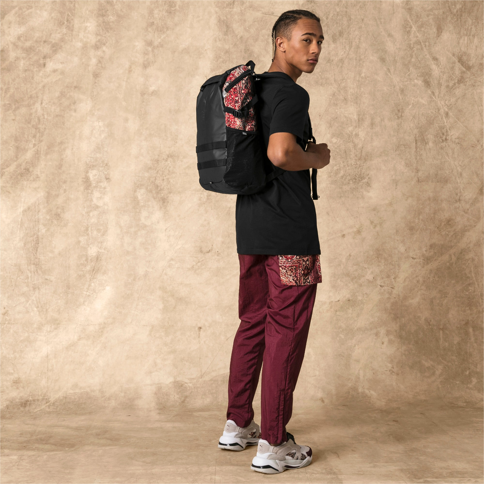 Thumbnail 2 of PUMA x LES BENJAMINS Backpack, Puma Black-AOP, medium