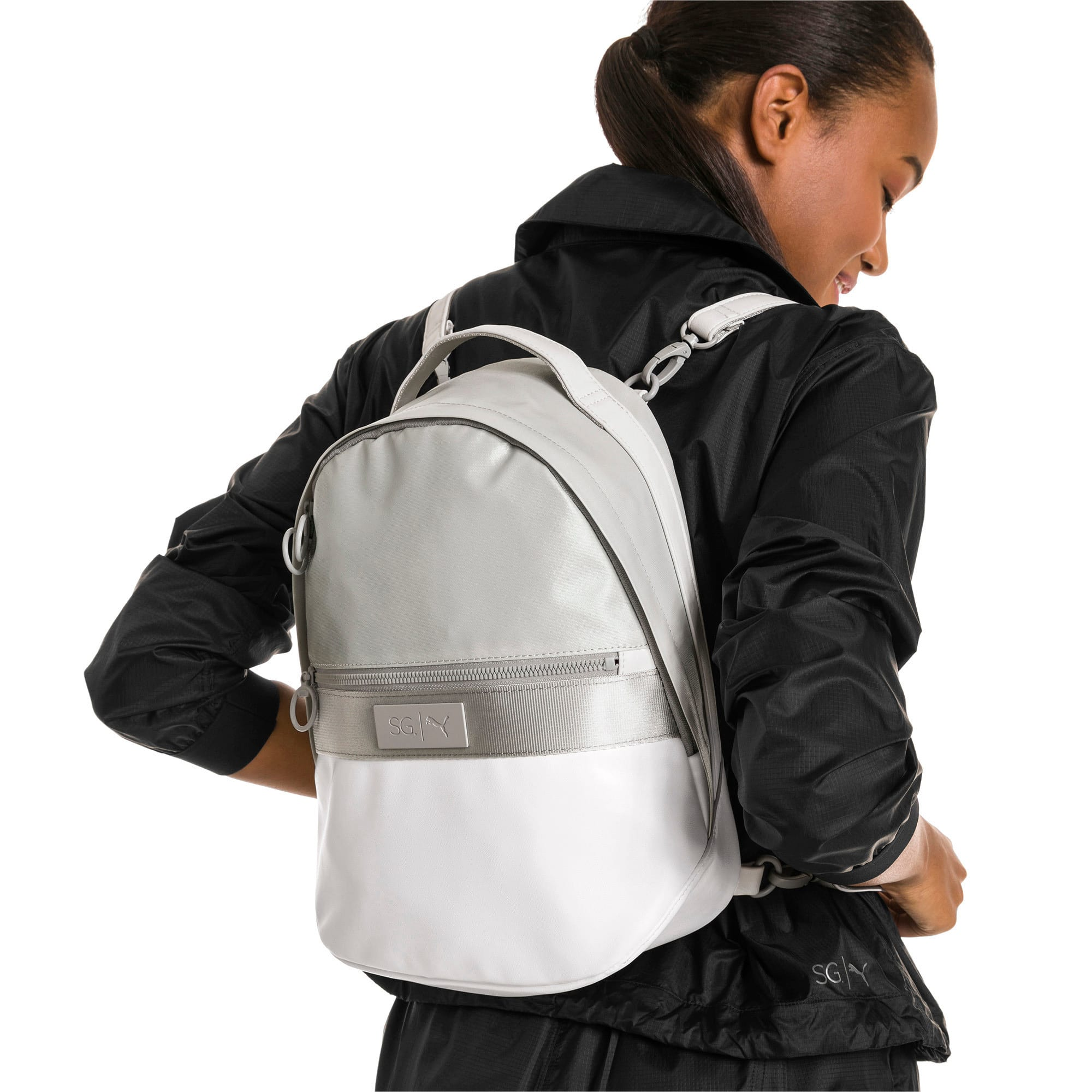 Thumbnail 2 of SG x PUMA Style Backpack, Puma White, medium