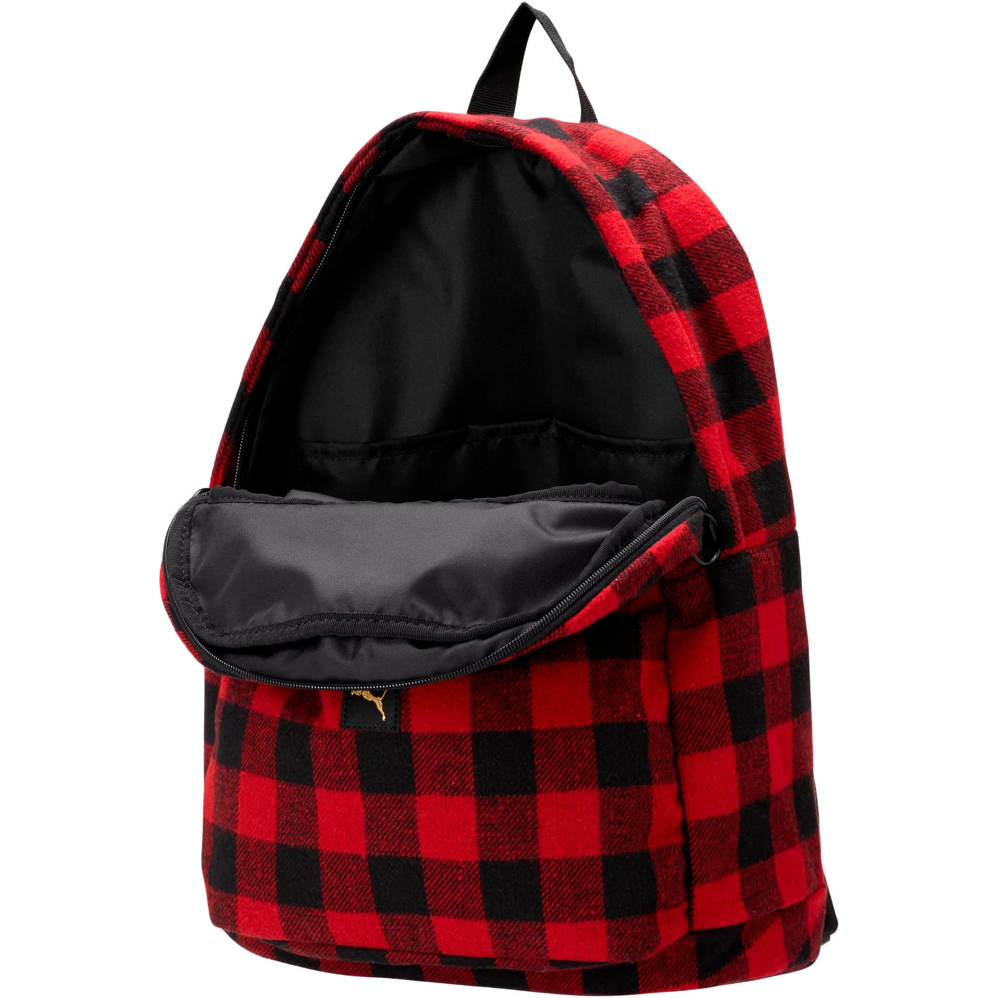 Thumbnail 2 of Check Backpack, Puma Black-Ribbon Red-check, medium