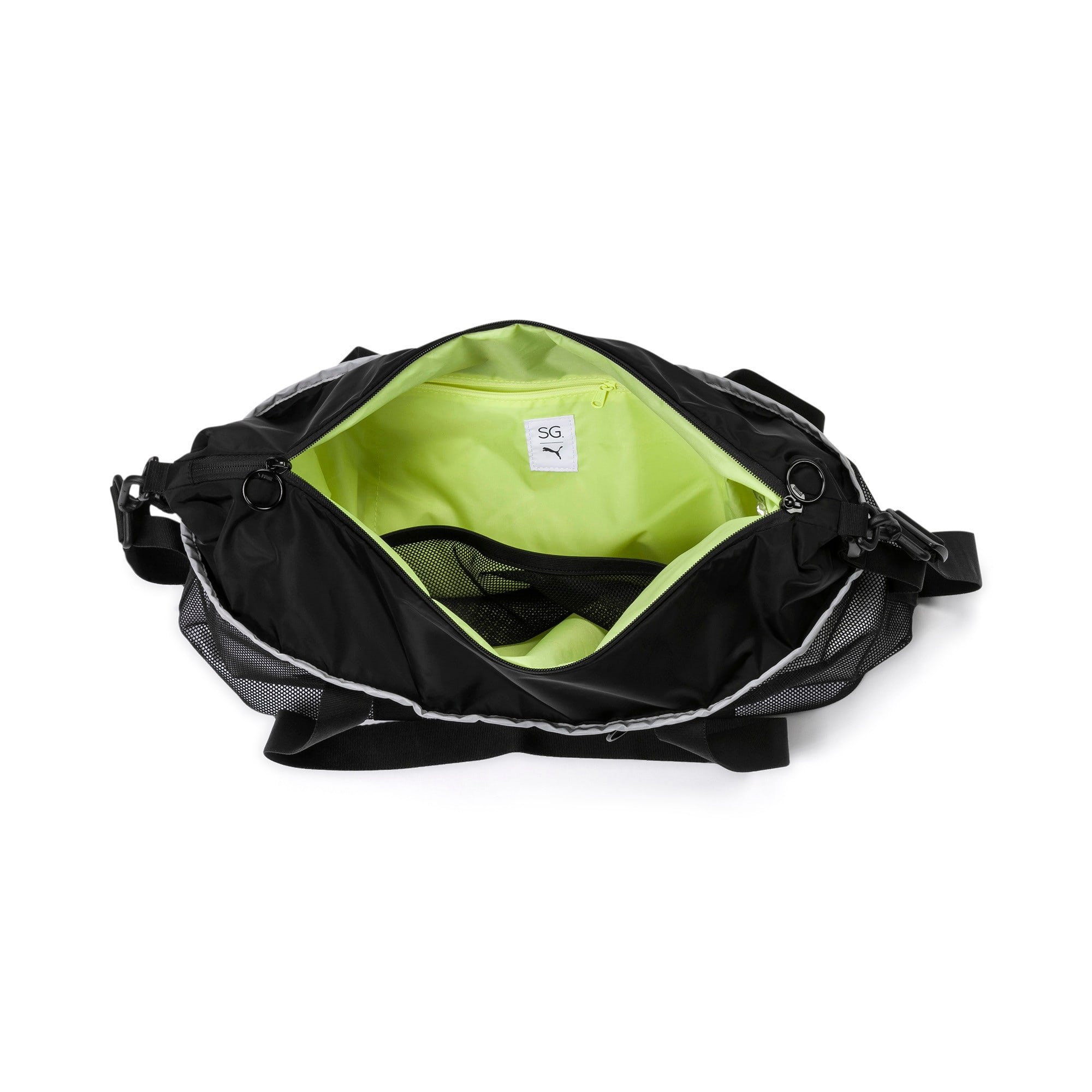 Thumbnail 4 of PUMA x SELENA GOMEZ Women's Sport Duffle Bag, Puma Black, medium