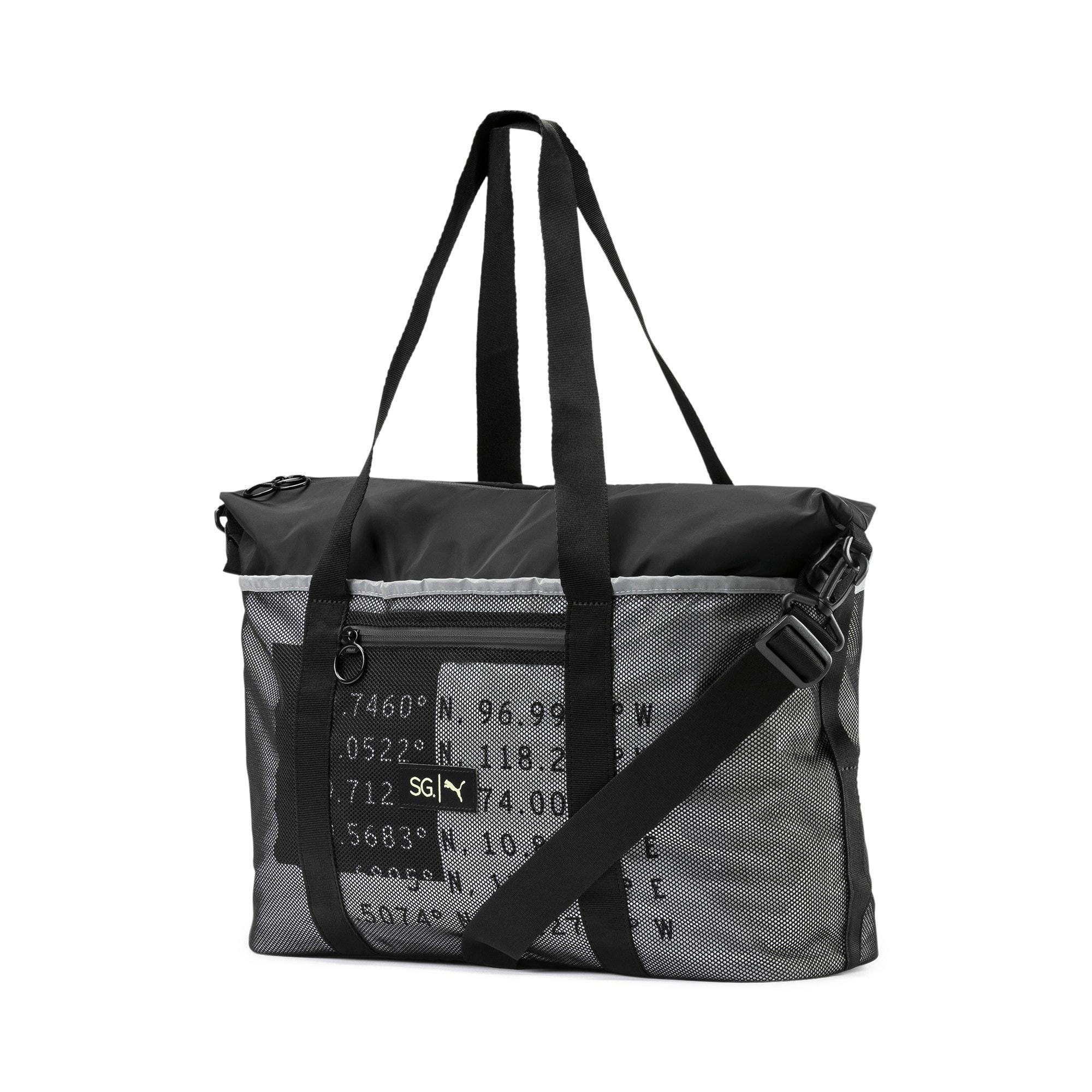 Thumbnail 1 of PUMA x SELENA GOMEZ Women's Sport Duffle Bag, Puma Black, medium