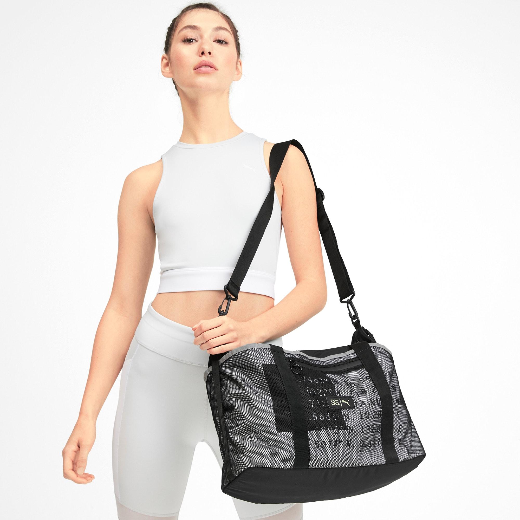 Thumbnail 2 of PUMA x SELENA GOMEZ Women's Sport Duffle Bag, Puma Black, medium