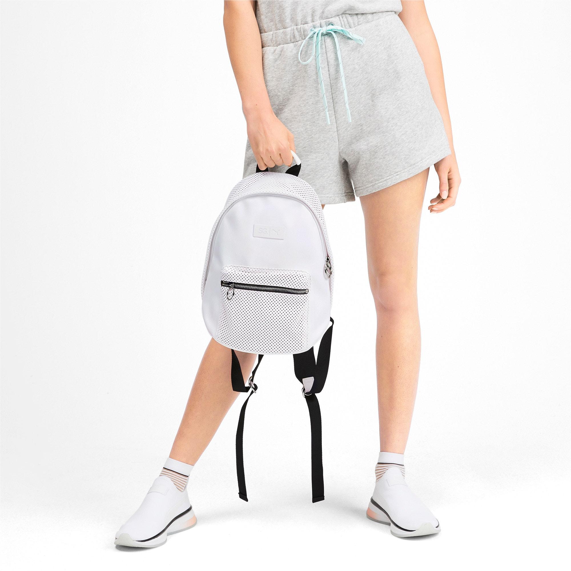 Thumbnail 2 of PUMA x SELENA GOMEZ Style Women's Backpack, Puma White, medium