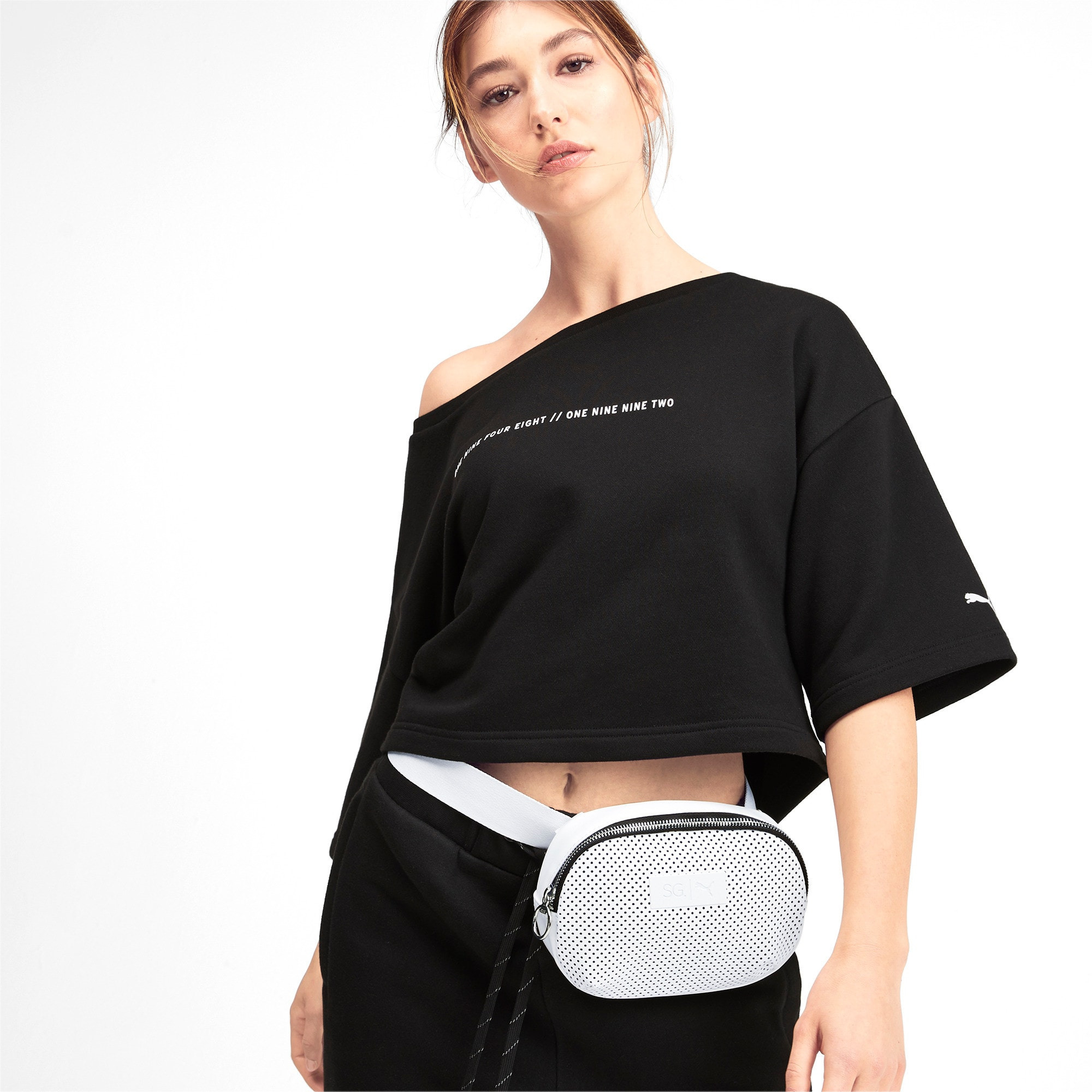 Thumbnail 2 of SG x PUMA Style Crossbody Bag, Puma White, medium