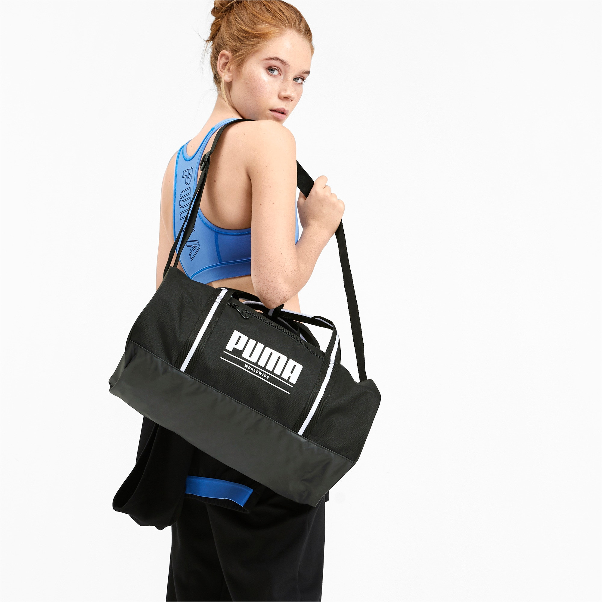Thumbnail 2 of Base Women's Barrel Bag, Puma Black, medium-IND