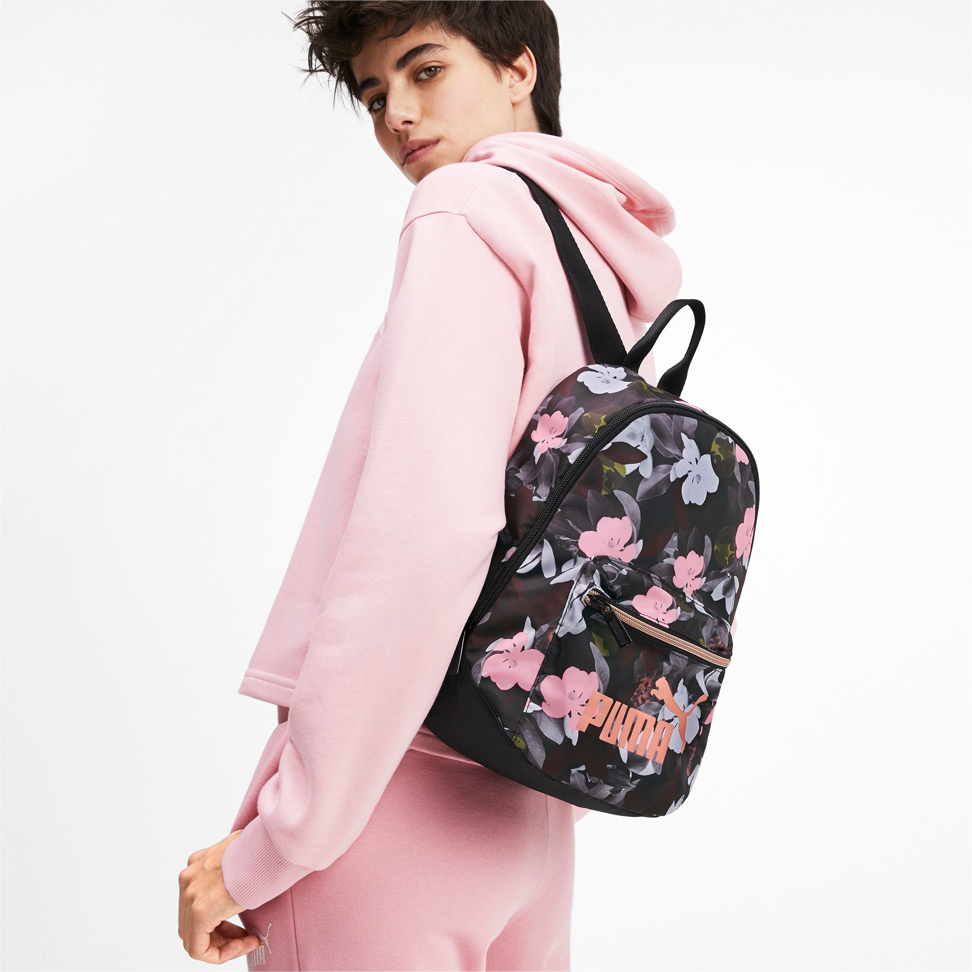Thumbnail 2 of Archive Women's Backpack, Puma Black-Floral AOP, medium-IND