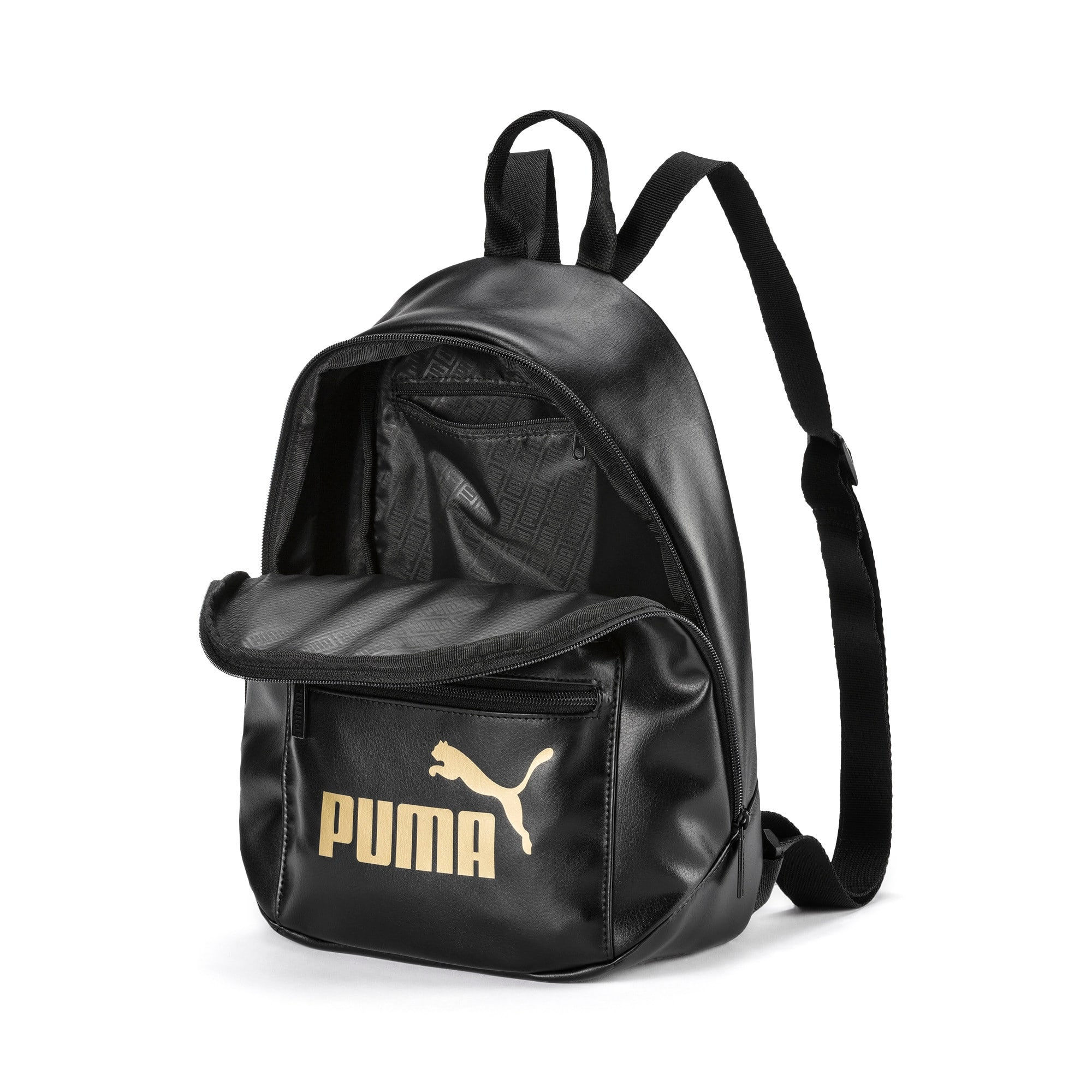 Thumbnail 4 of Up Women's Archive Backpack, Puma Black-Gold, medium
