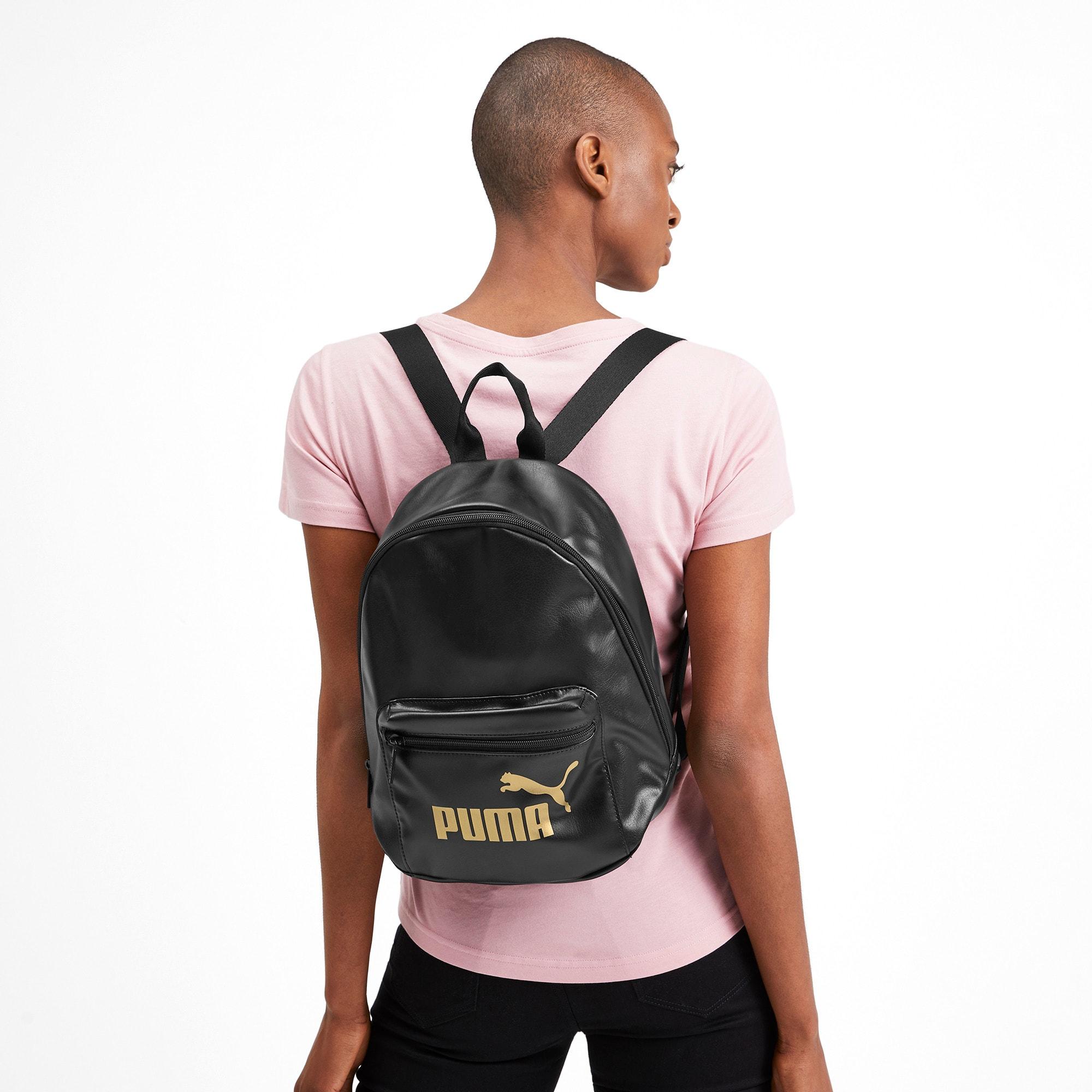 Thumbnail 2 of Up Women's Archive Backpack, Puma Black-Gold, medium