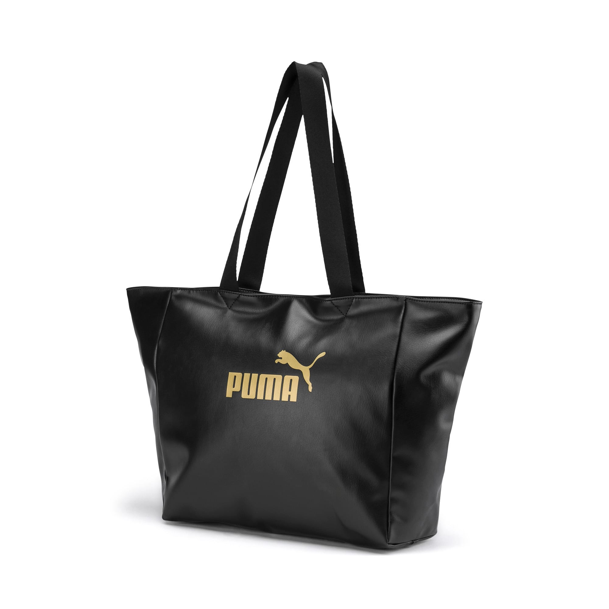 Thumbnail 1 of Large Women's Shopper, Puma Black-Gold, medium-IND